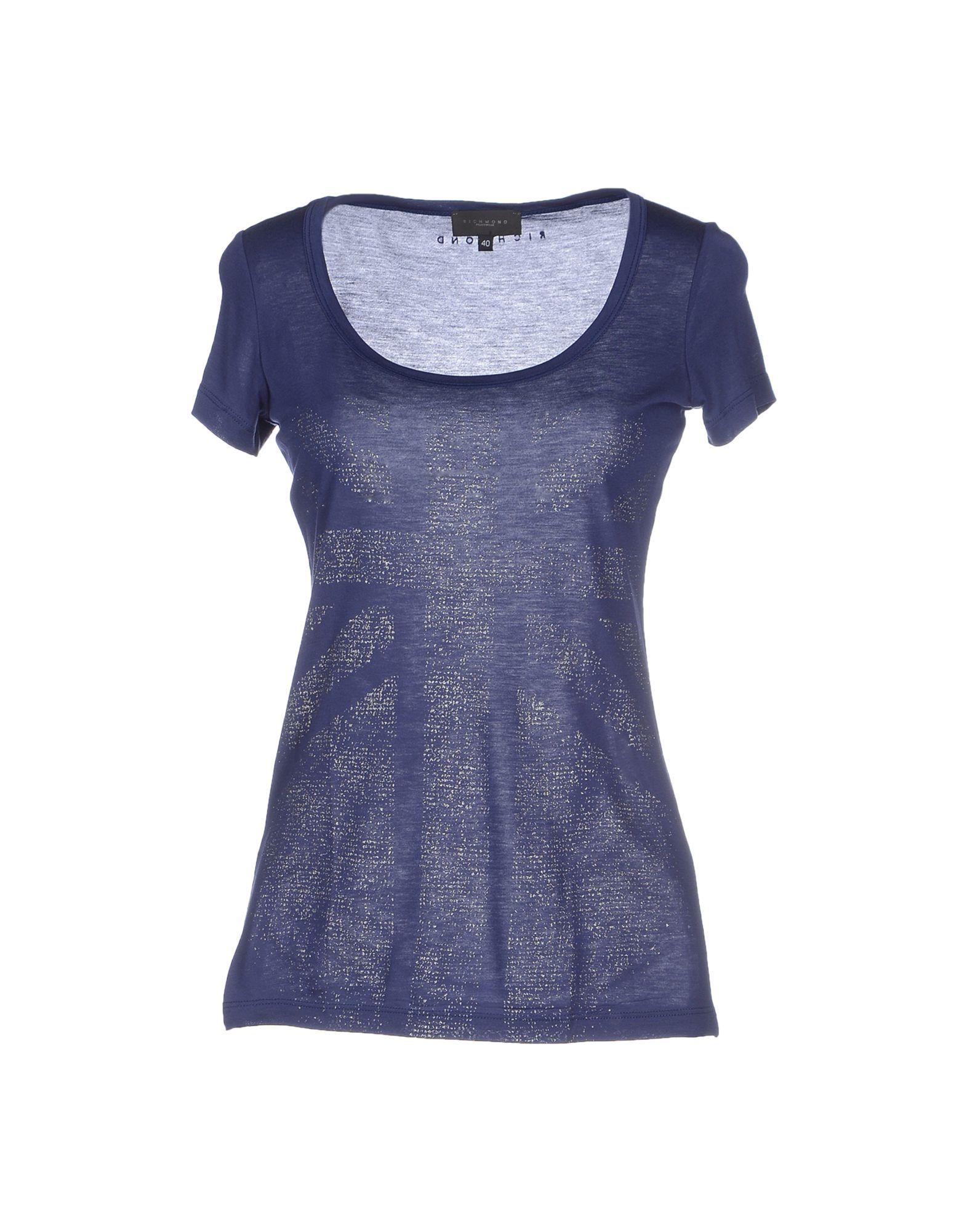 John richmond t shirt in blue lyst for T shirt printing richmond va