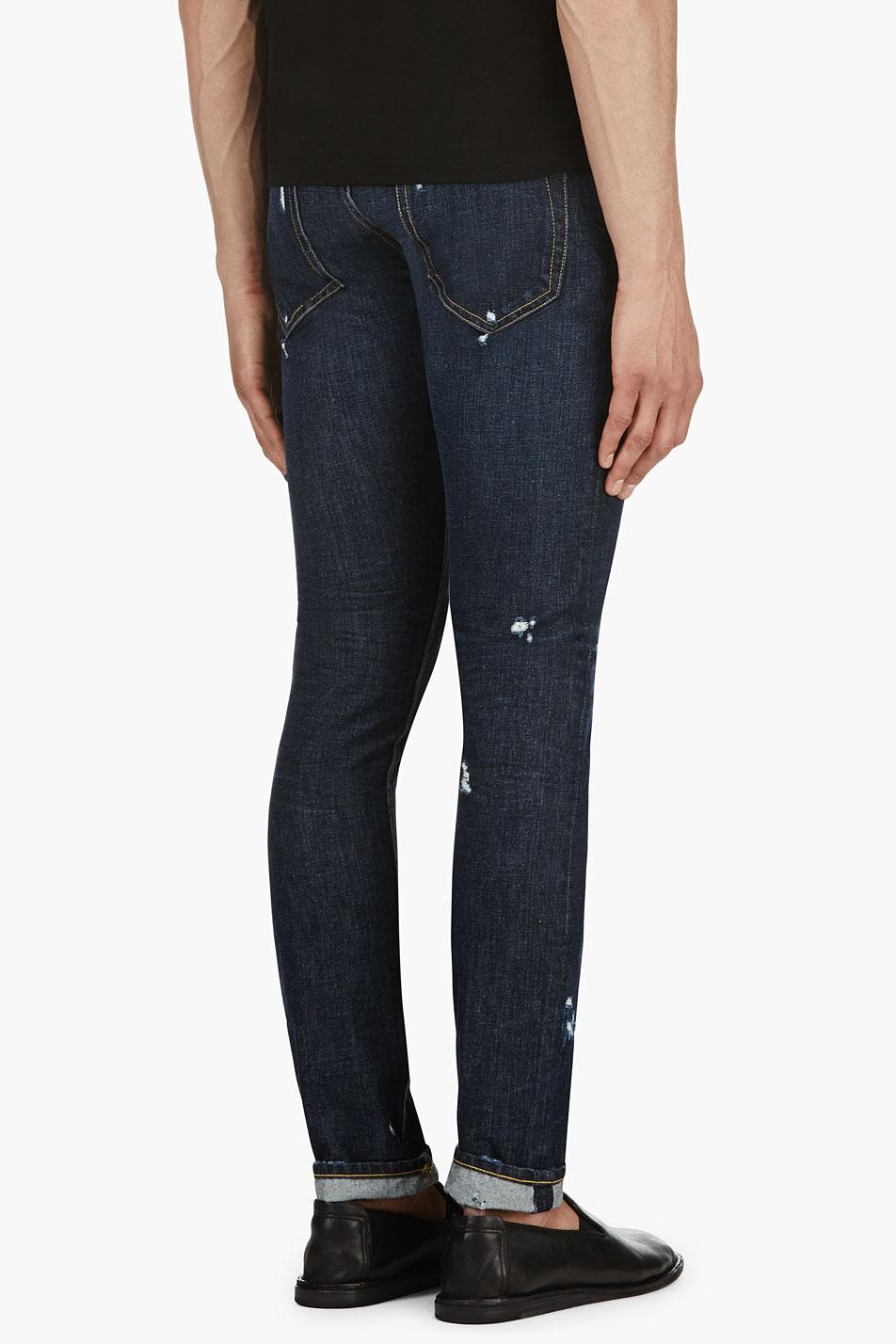 Distressed Black Jeans Mens