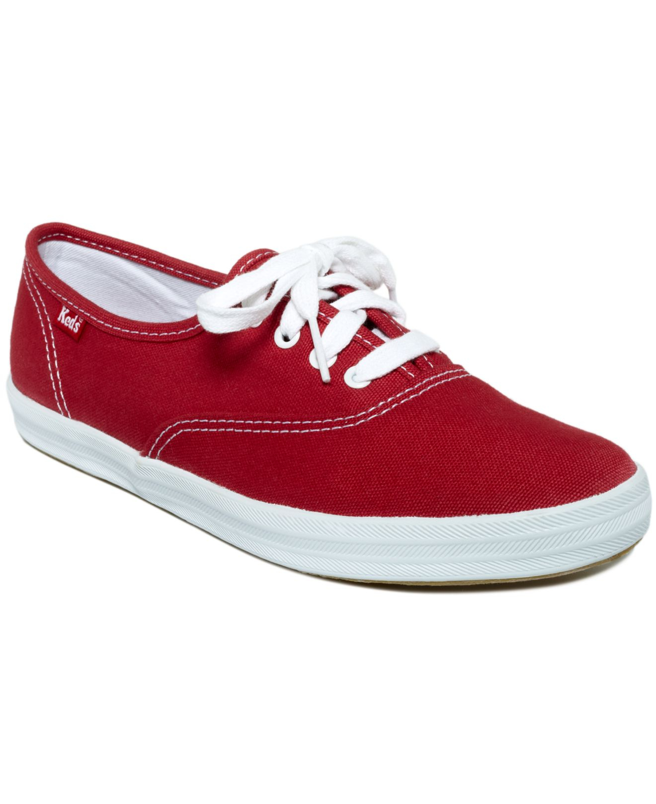 Keds Women's Champion Oxford Sneakers in Red