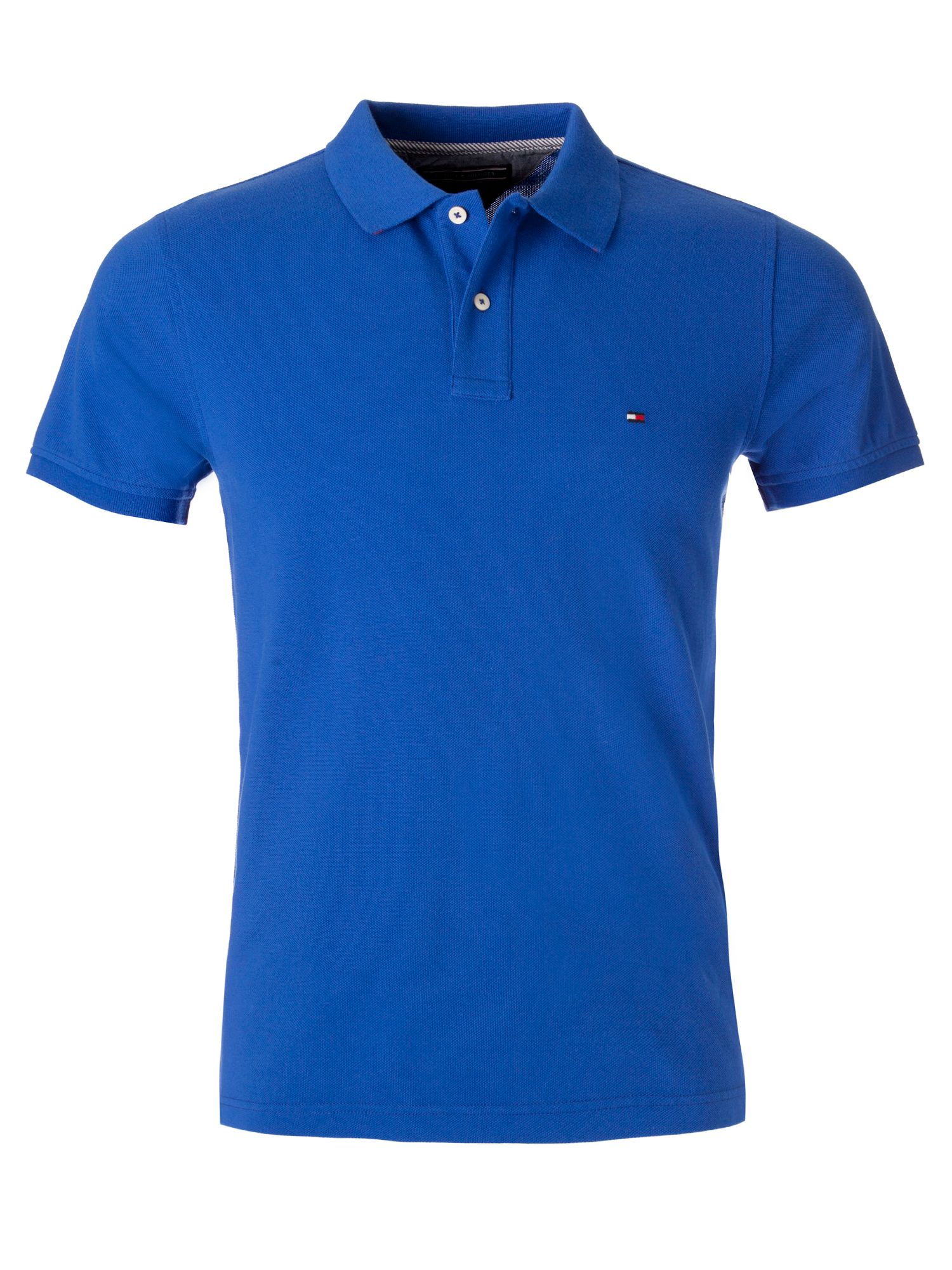 tommy hilfiger slim fit polo shirt in blue for men light. Black Bedroom Furniture Sets. Home Design Ideas