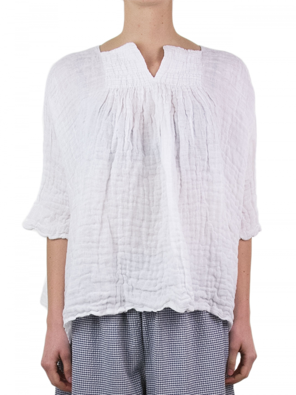 Daniela gregis White Linen Blouse in White | Lyst
