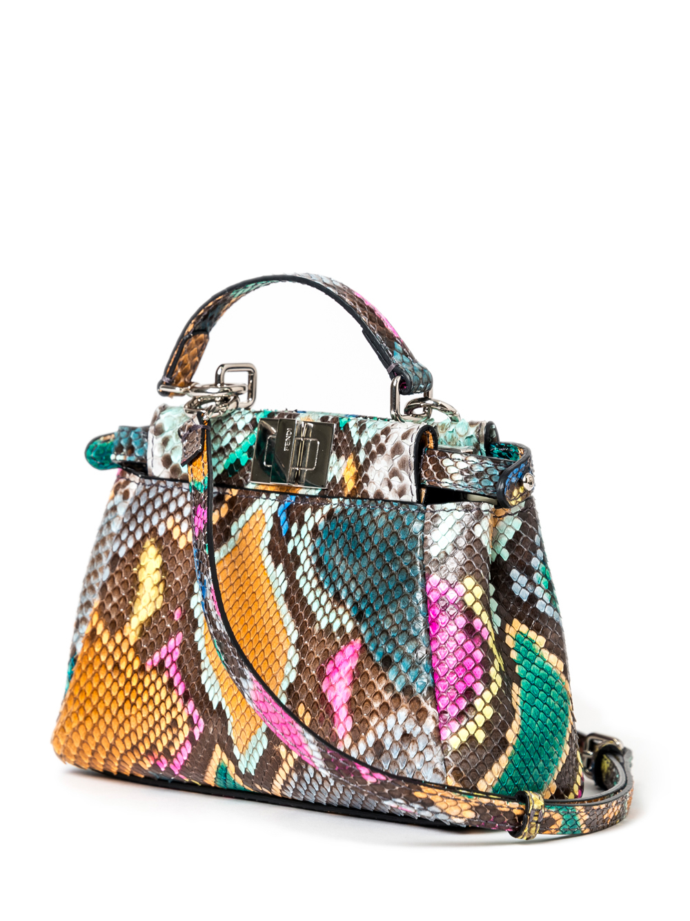 shopping fendi peekaboo mini python shoulder bag pink 5950 26135 ab730   closeout lyst fendi python peekaboo charm bag eb0f9 739de 90c32db3dfdba