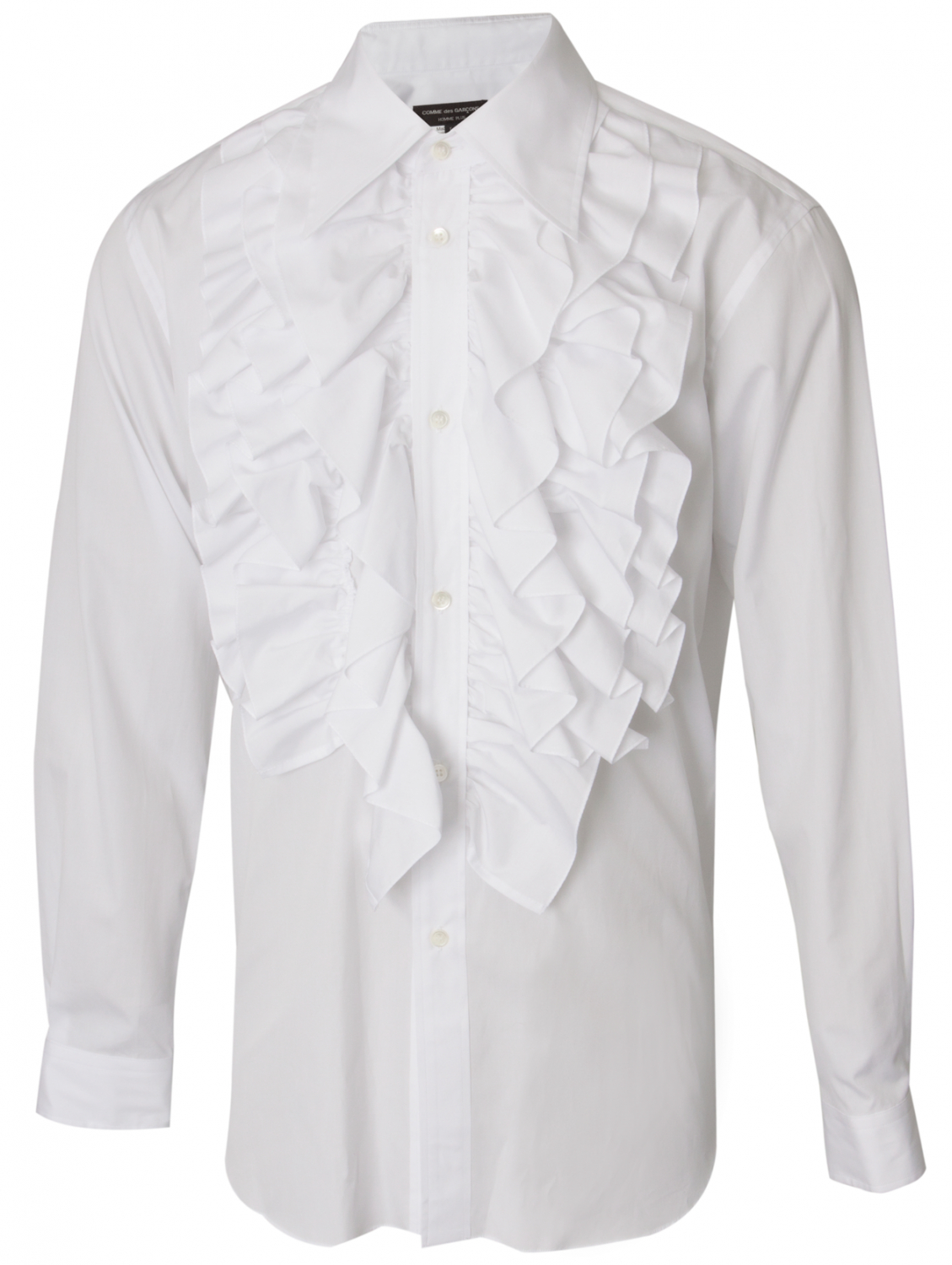 Lyst Comme Des Gar Ons Long Sleeve Ruffle Shirt In White