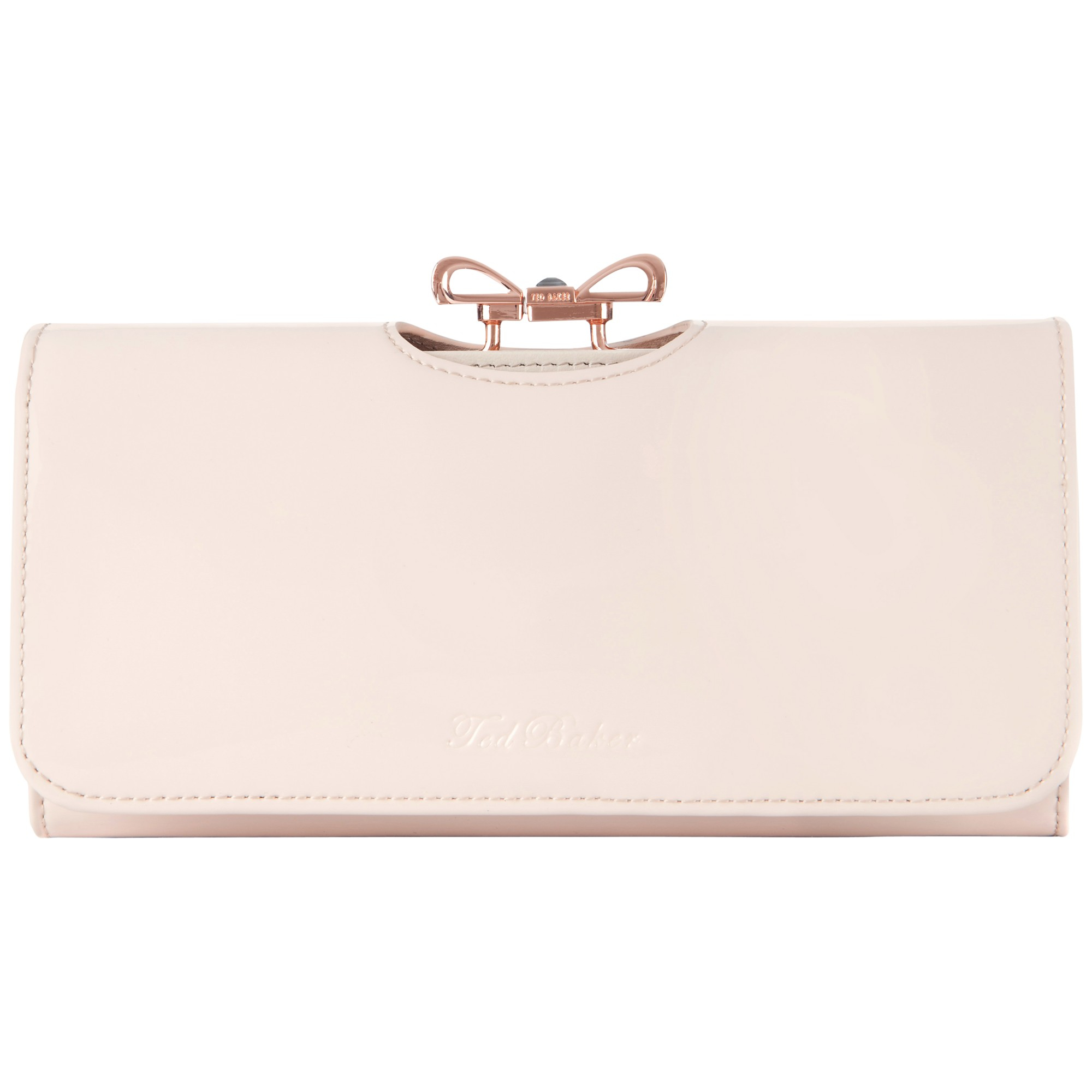 e50dc7f9758306 Ted Baker Lindar Bow Bobble Leather Purse in Pink - Lyst
