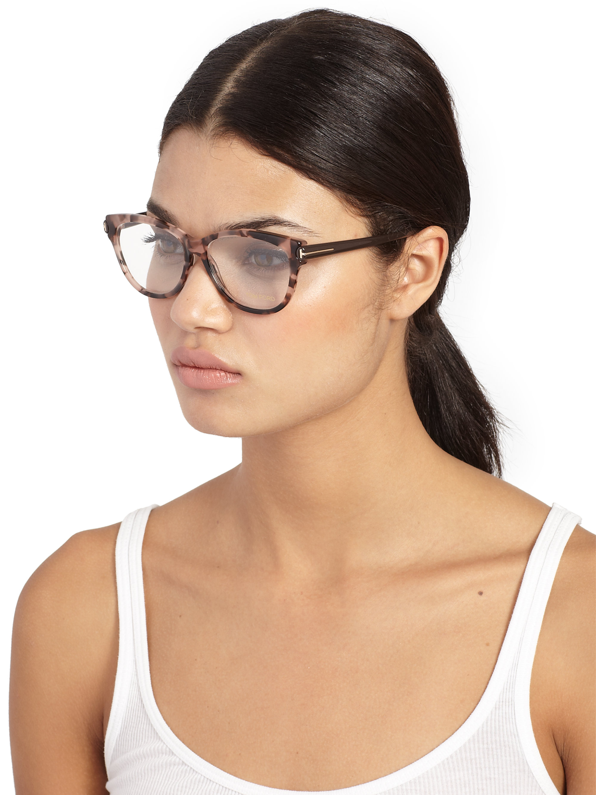 Lyst - Tom Ford Butterfly Optical Glasses in Pink