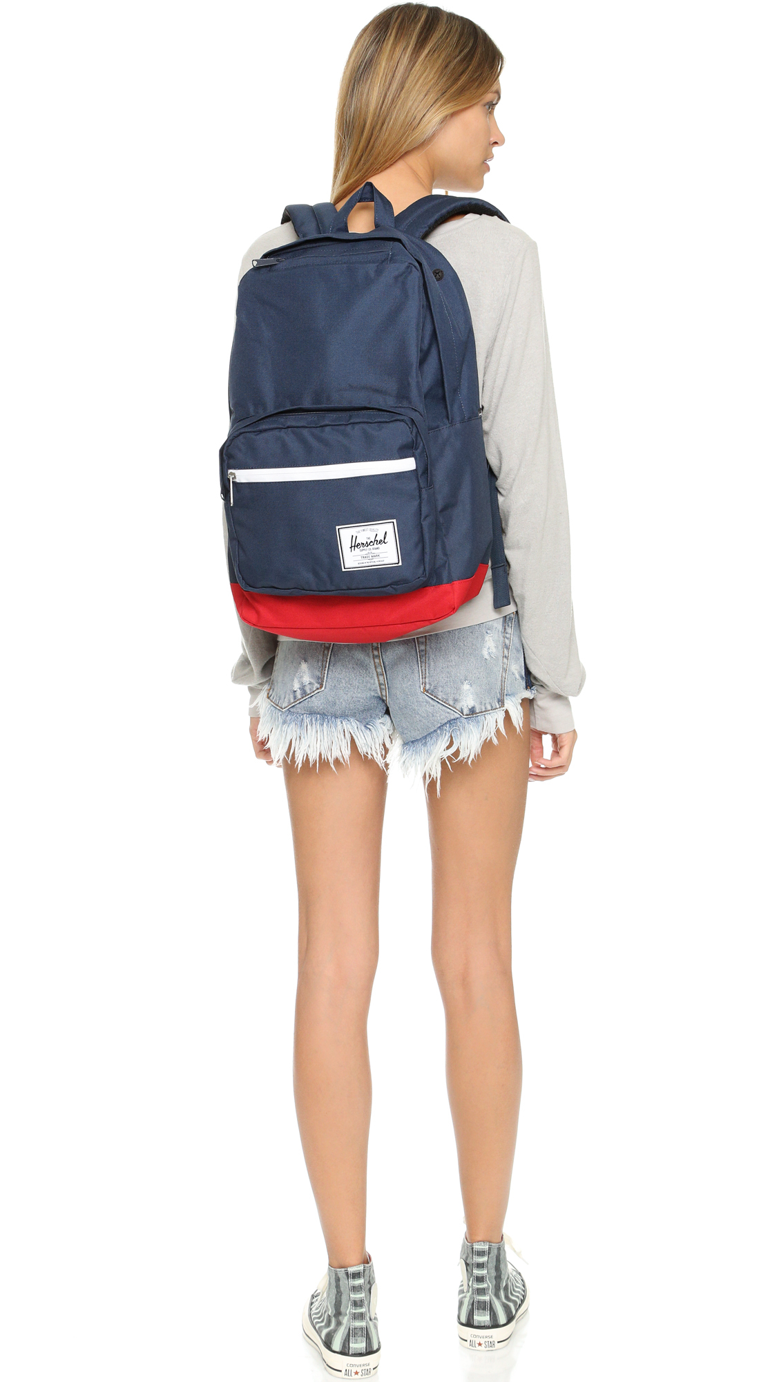 6e00b6a7577 Lyst - Herschel Supply Co. Pop Quiz Backpack - Navy red in Blue