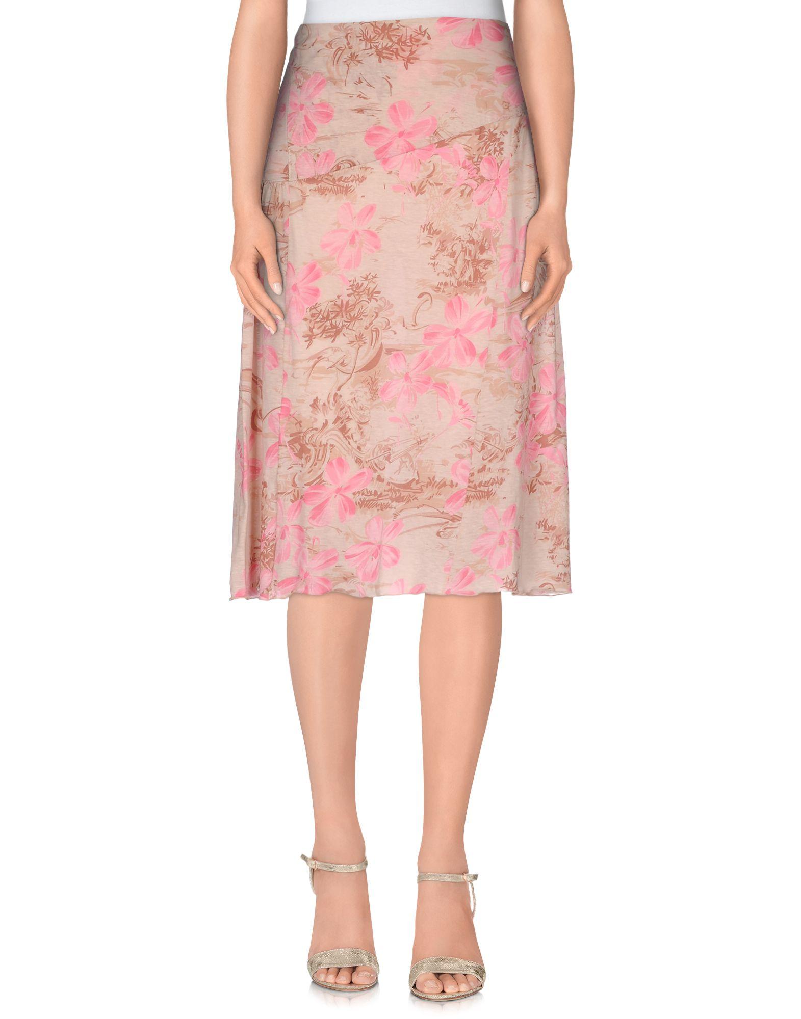 blumarine knee length skirt in beige save 45 lyst