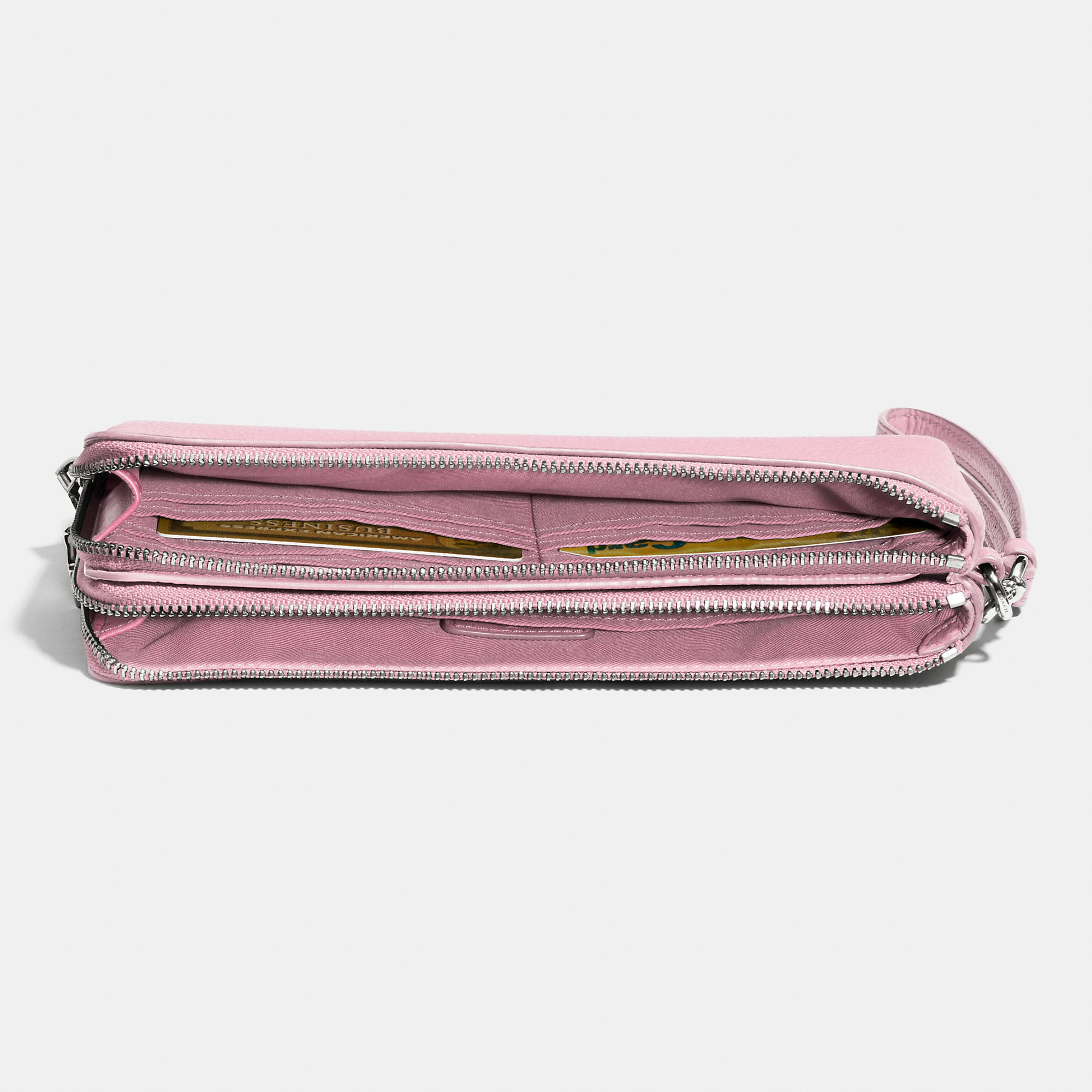 Women'S Italian Leather Double Zip Wallets 35