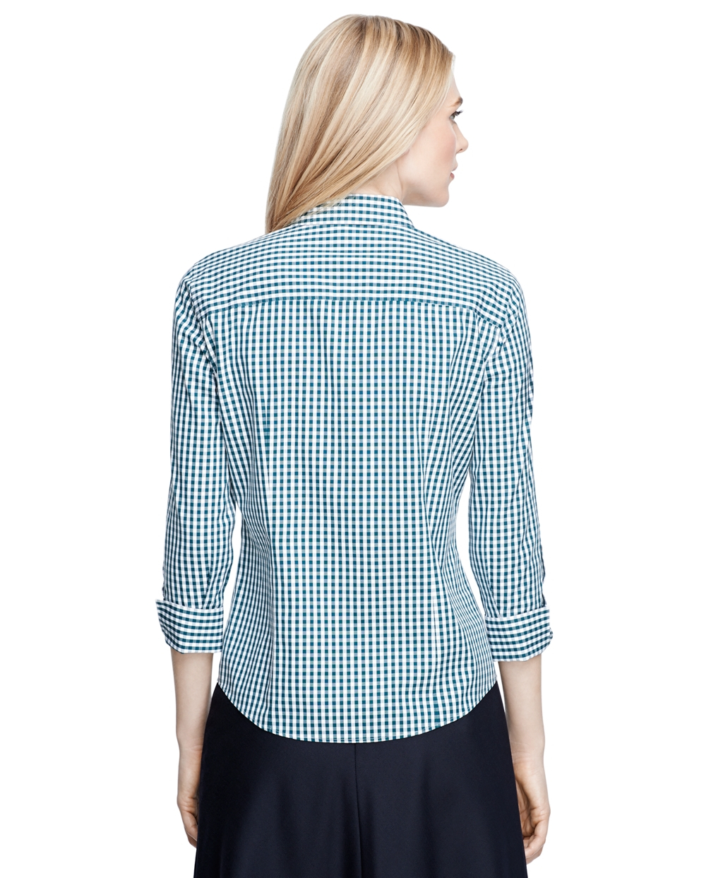 Brooks Brothers Non Iron Three Quarter Sleeve Gingham