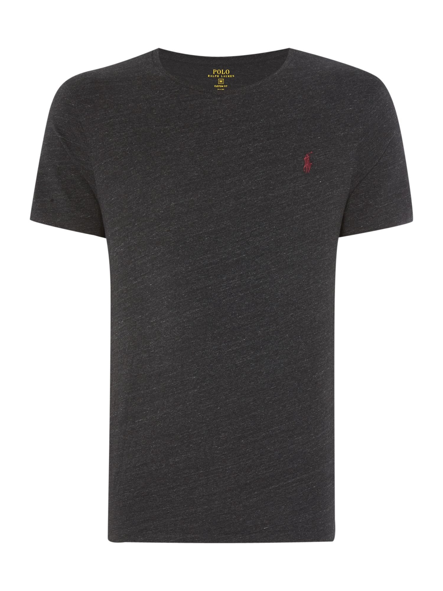 Polo ralph lauren crew neck custom fit t shirt in black for Custom fit t shirts