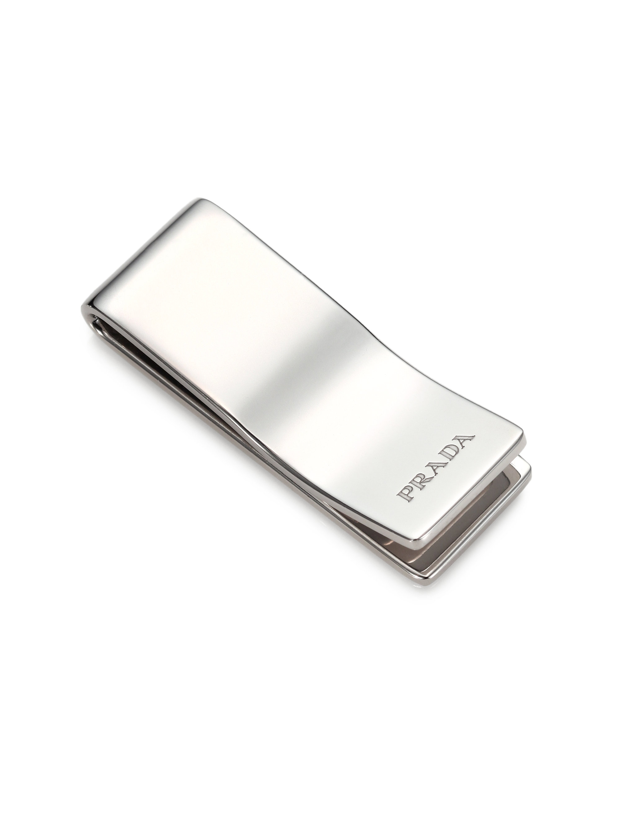 Prada Sterling Silver Money Clip In Metallic For Men Lyst