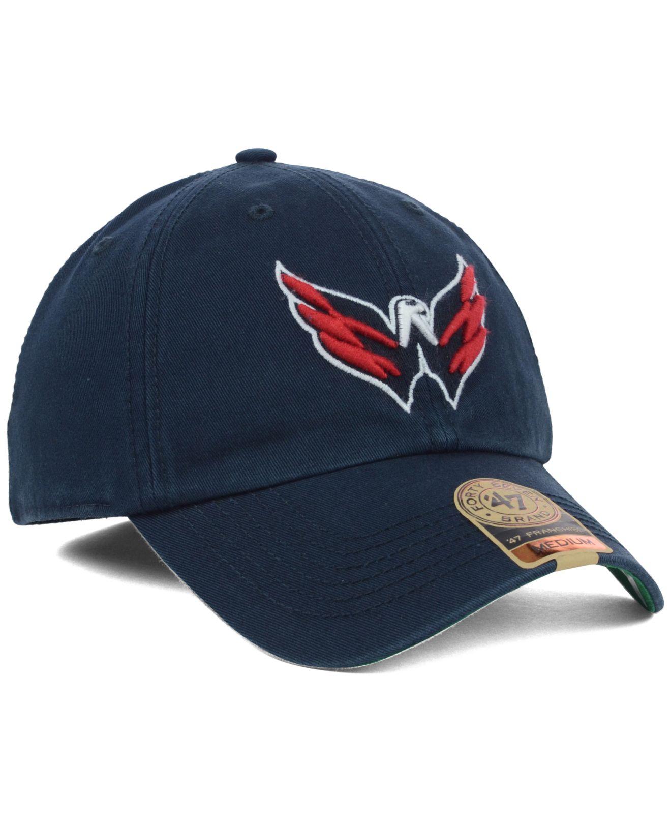 Lyst - 47 Brand Washington Capitals Franchise Cap in Blue for Men c904000fe85a