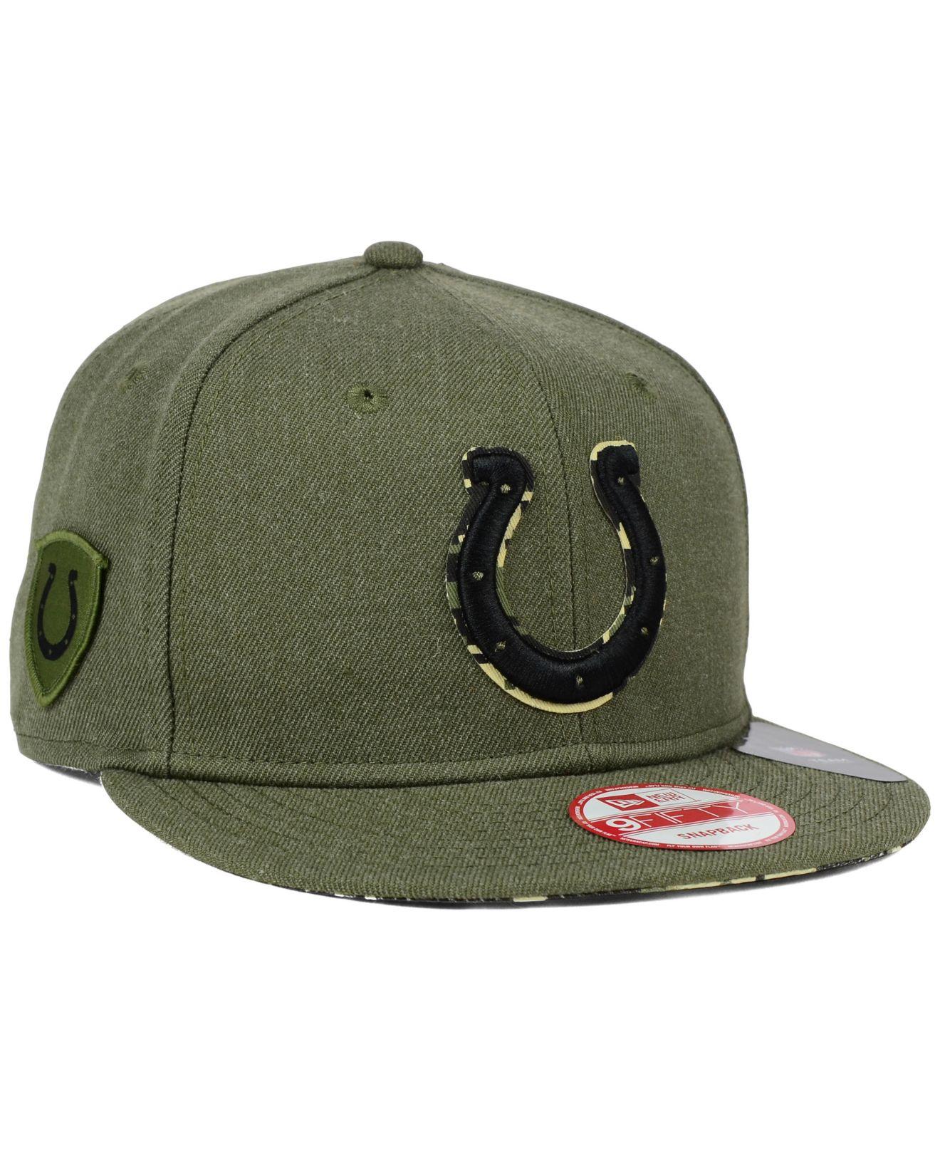 2f2f64d9310a9 Lyst - KTZ Indianapolis Colts Camo 9fifty Snapback Cap in Green for Men