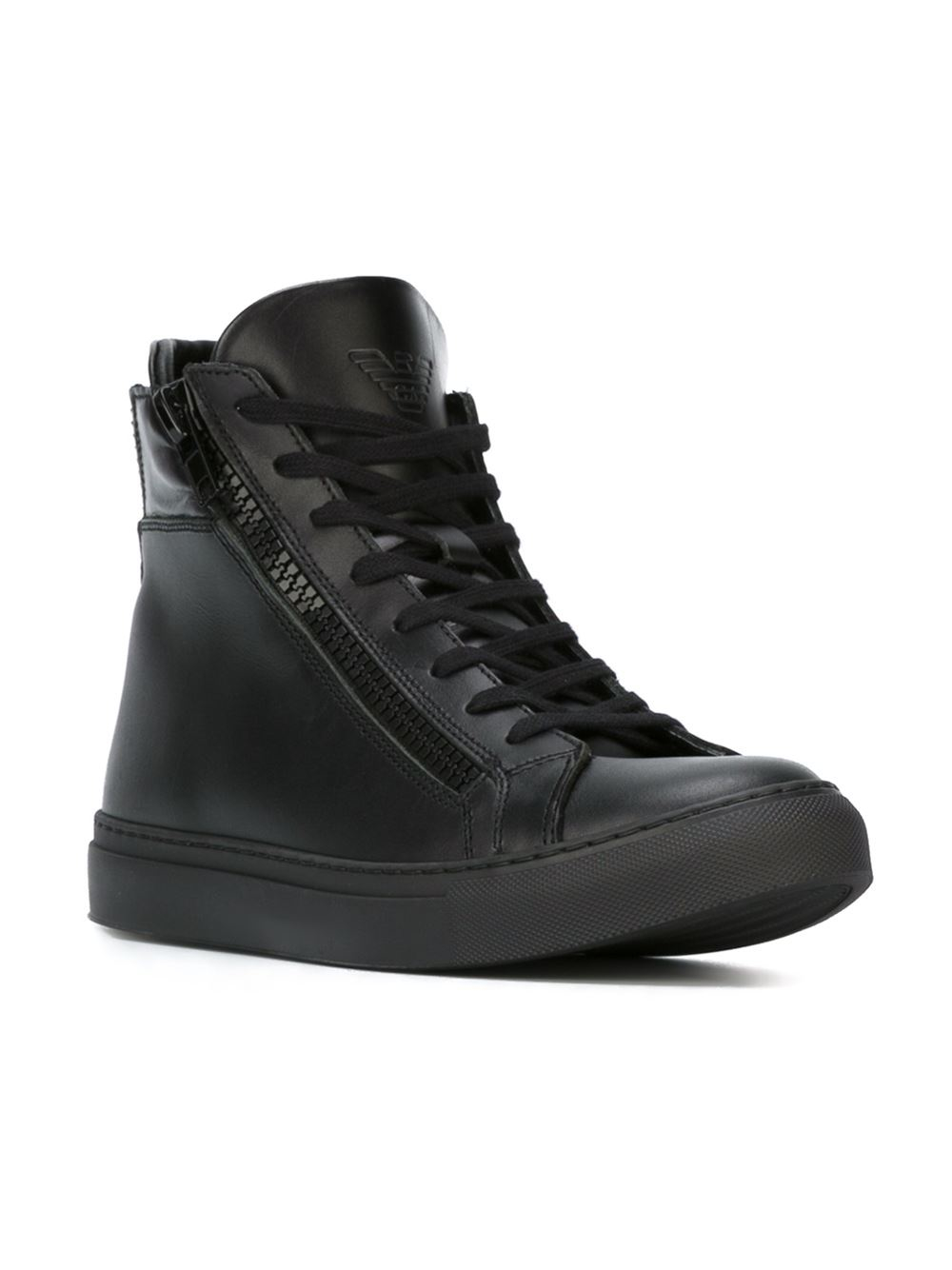 panelled side zip hi-tops - Black BOTH Shoes oSejwv