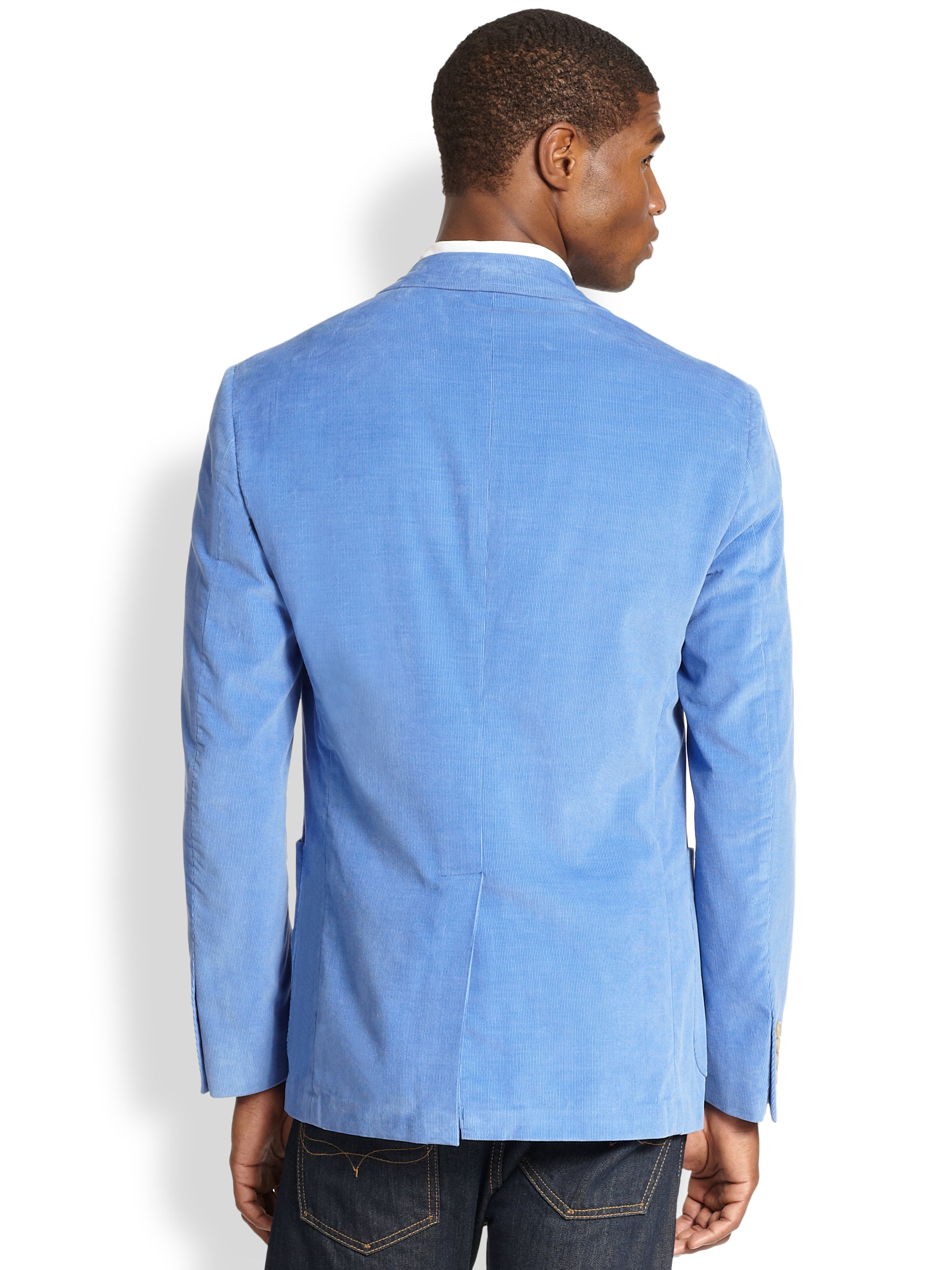 Lyst Polo Ralph Lauren Yale Corduroy Sport Coat In Blue