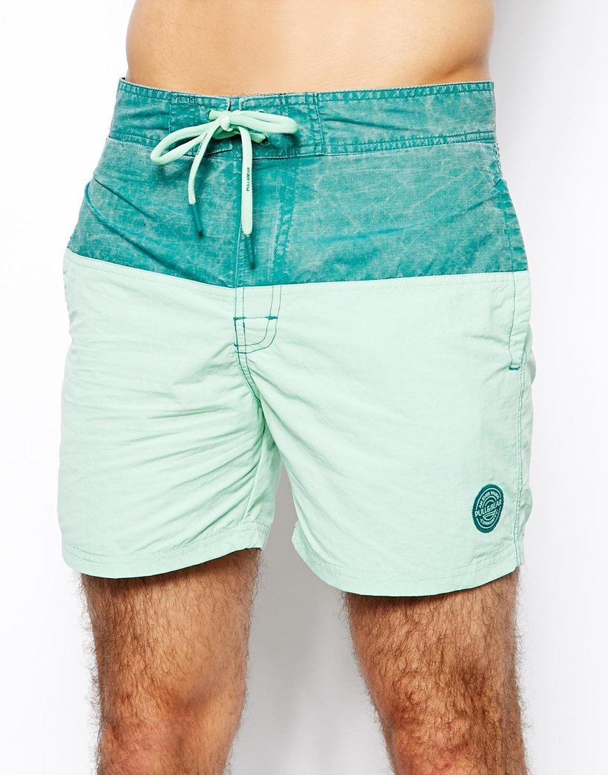 7bd3c8077b4f Green Pull Basic Shorts Men For In Lyst Swim amp bear YDWIeEH92