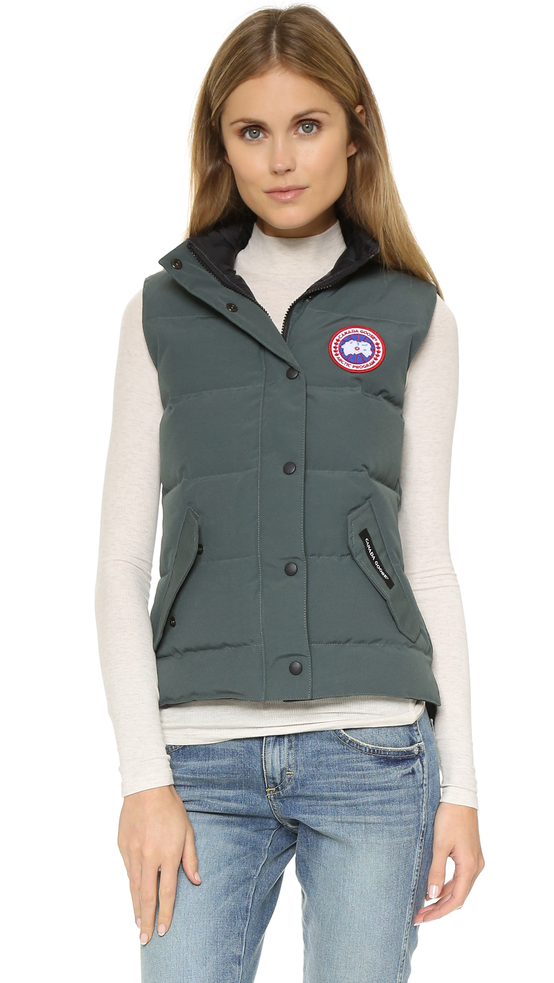 Canada Goose expedition parka outlet store - Canada goose Freestyle Vest in Gray (Slate) | Lyst