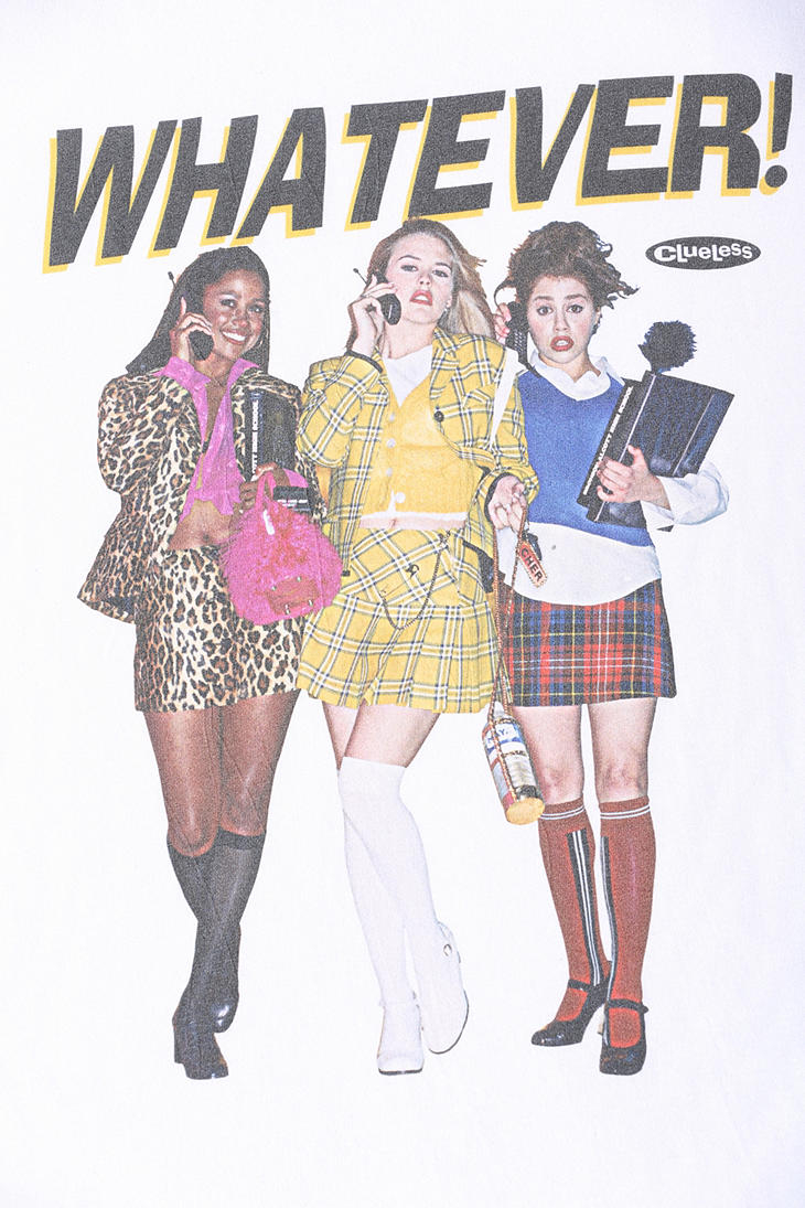 Lyst Urban Outfitters Clueless Whatever Tee In White