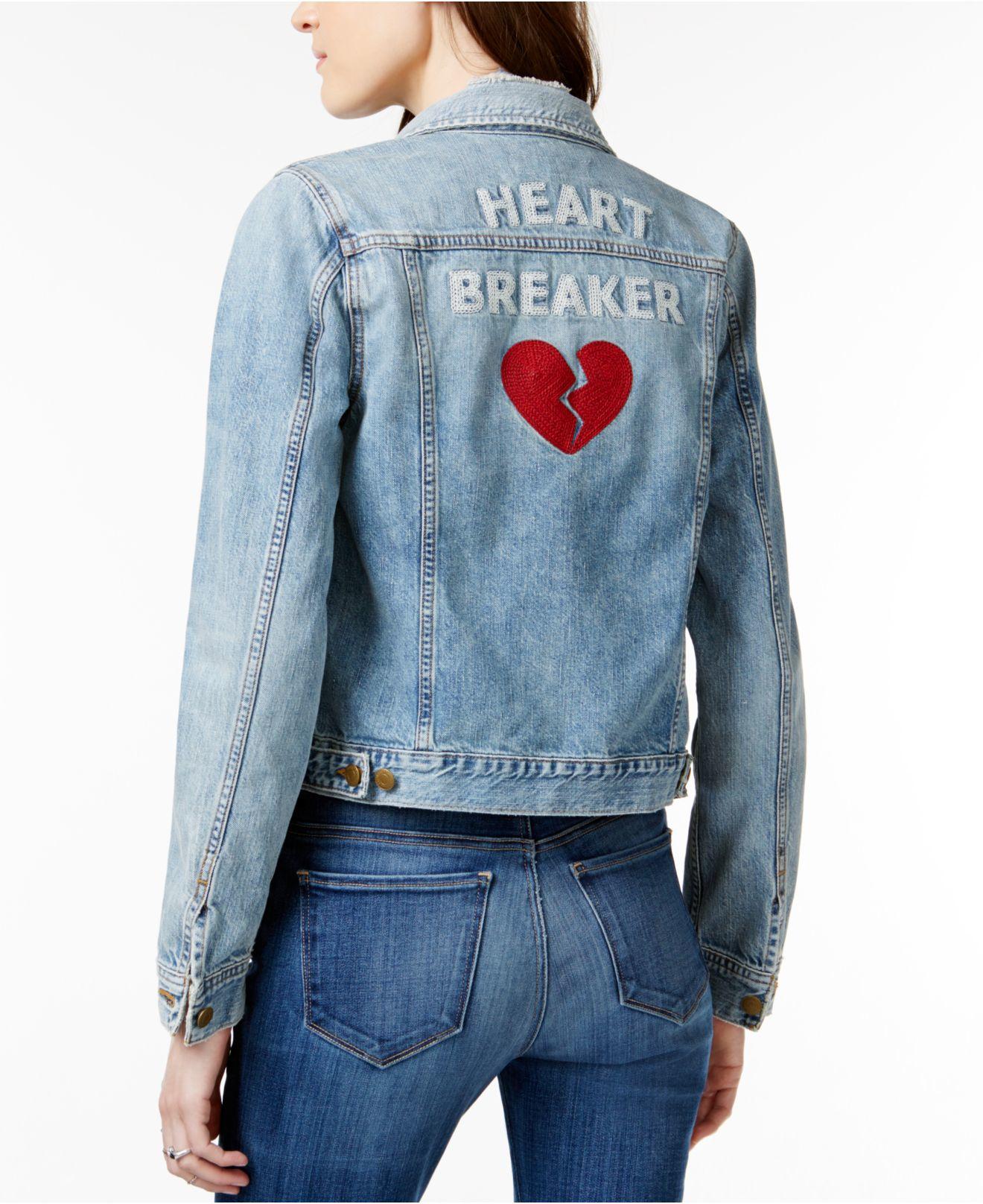 Lyst Lucky Brand Heart Breaker Graphic Lima Wash Denim
