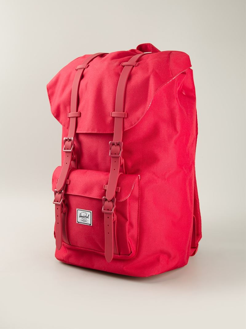 9b83fc348bf Herschel Supply Co.  Little America  Backpack in Red for Men - Lyst