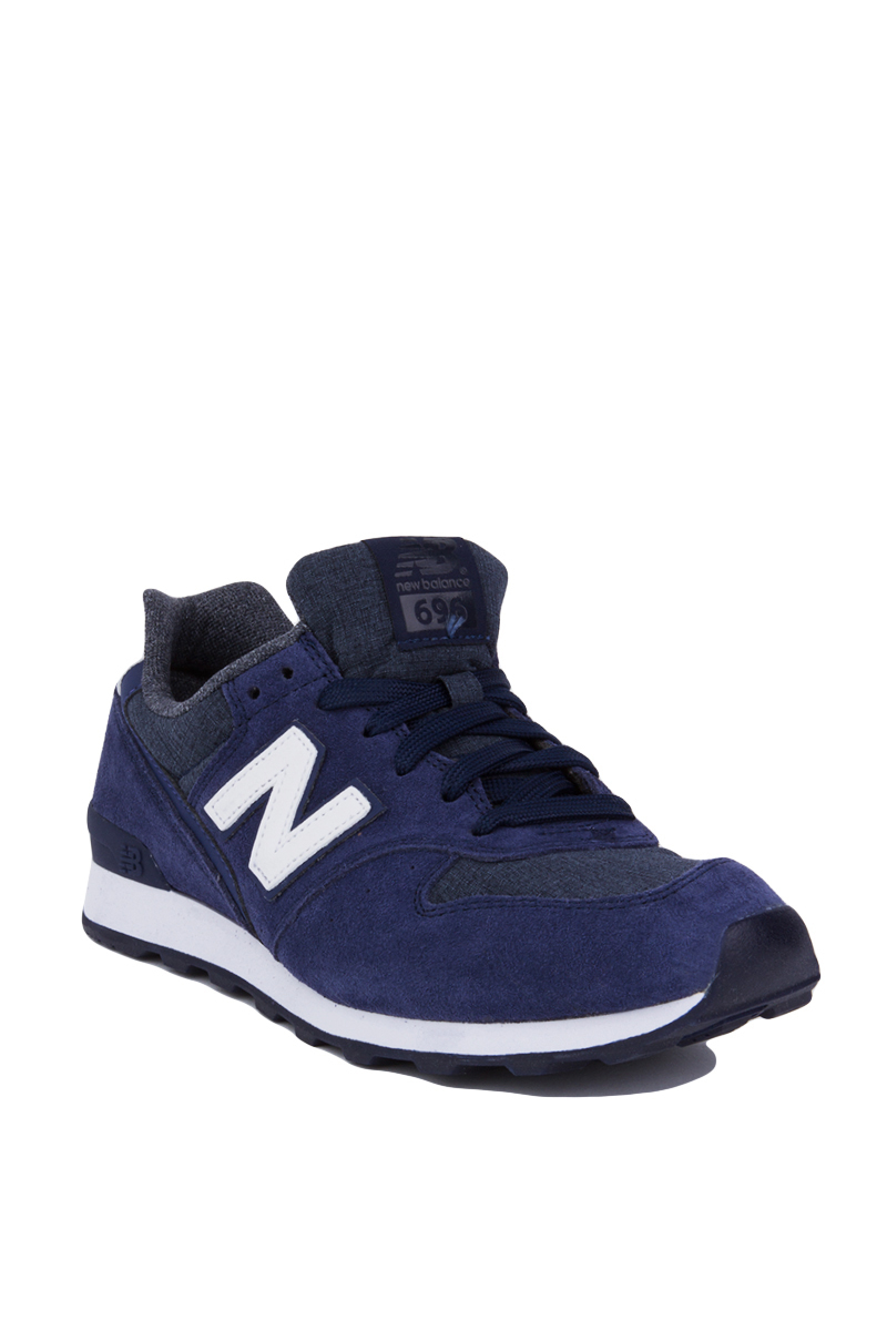 New Balance 696 Shadows Sneakers Navy In Blue Lyst