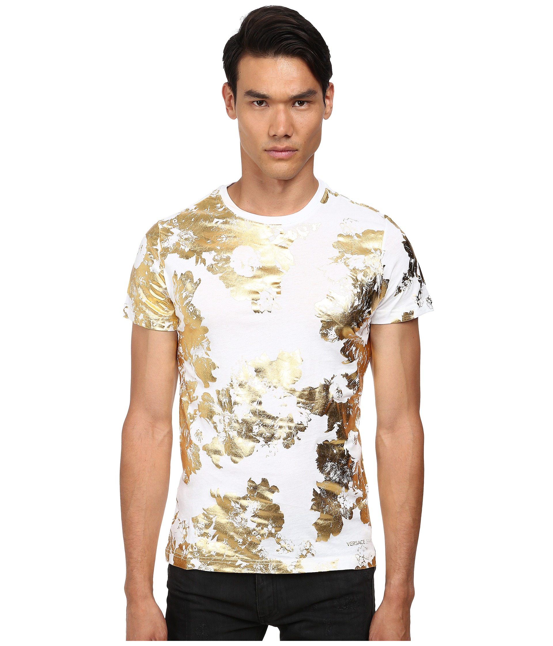 Lyst Versace Jeans Short Sleeve T Shirt With Gold Foil