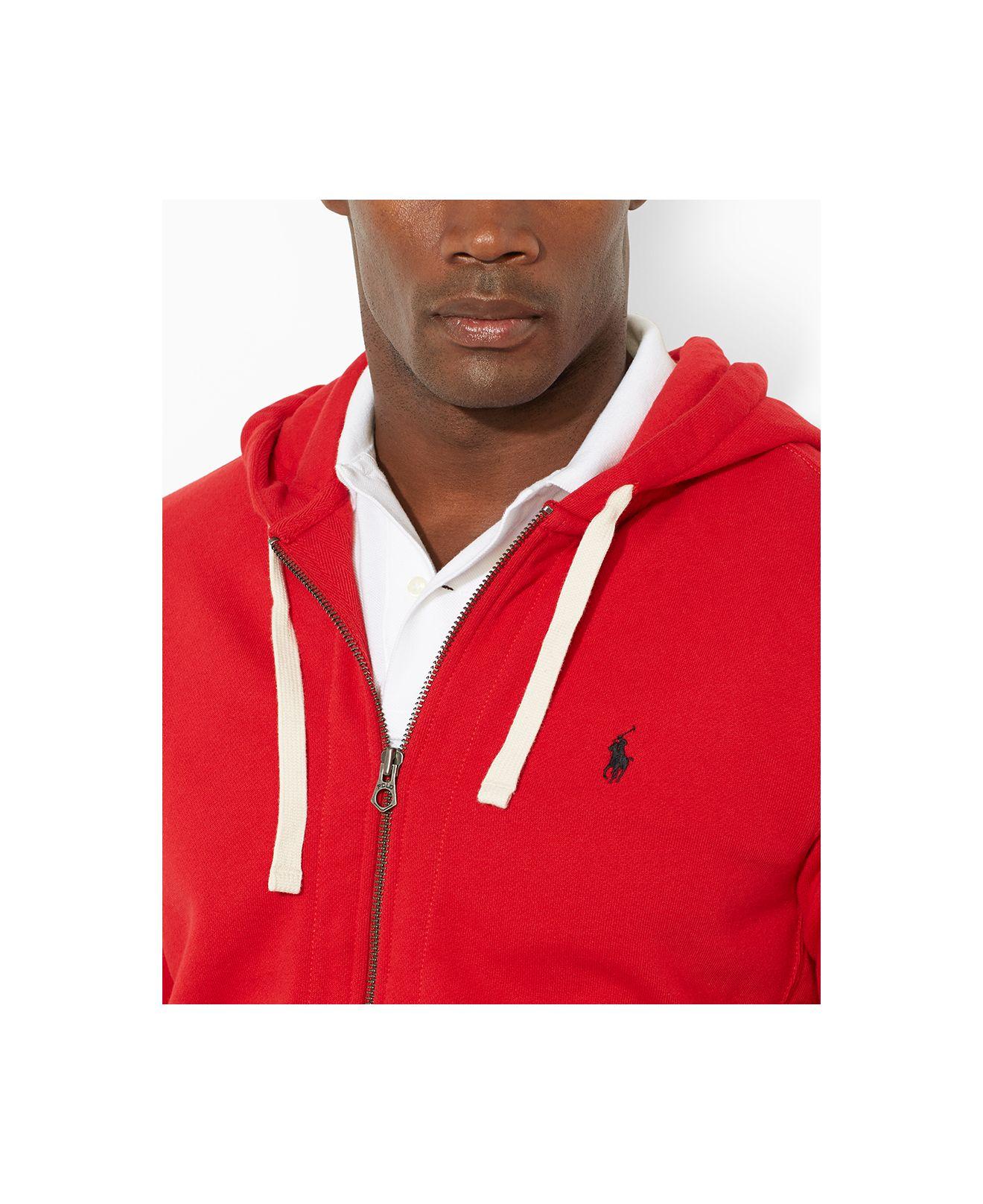 Lyst - Polo Ralph Lauren Big And Tall Classic Fleece Full Zip Hoodie ... f9d37e6a6