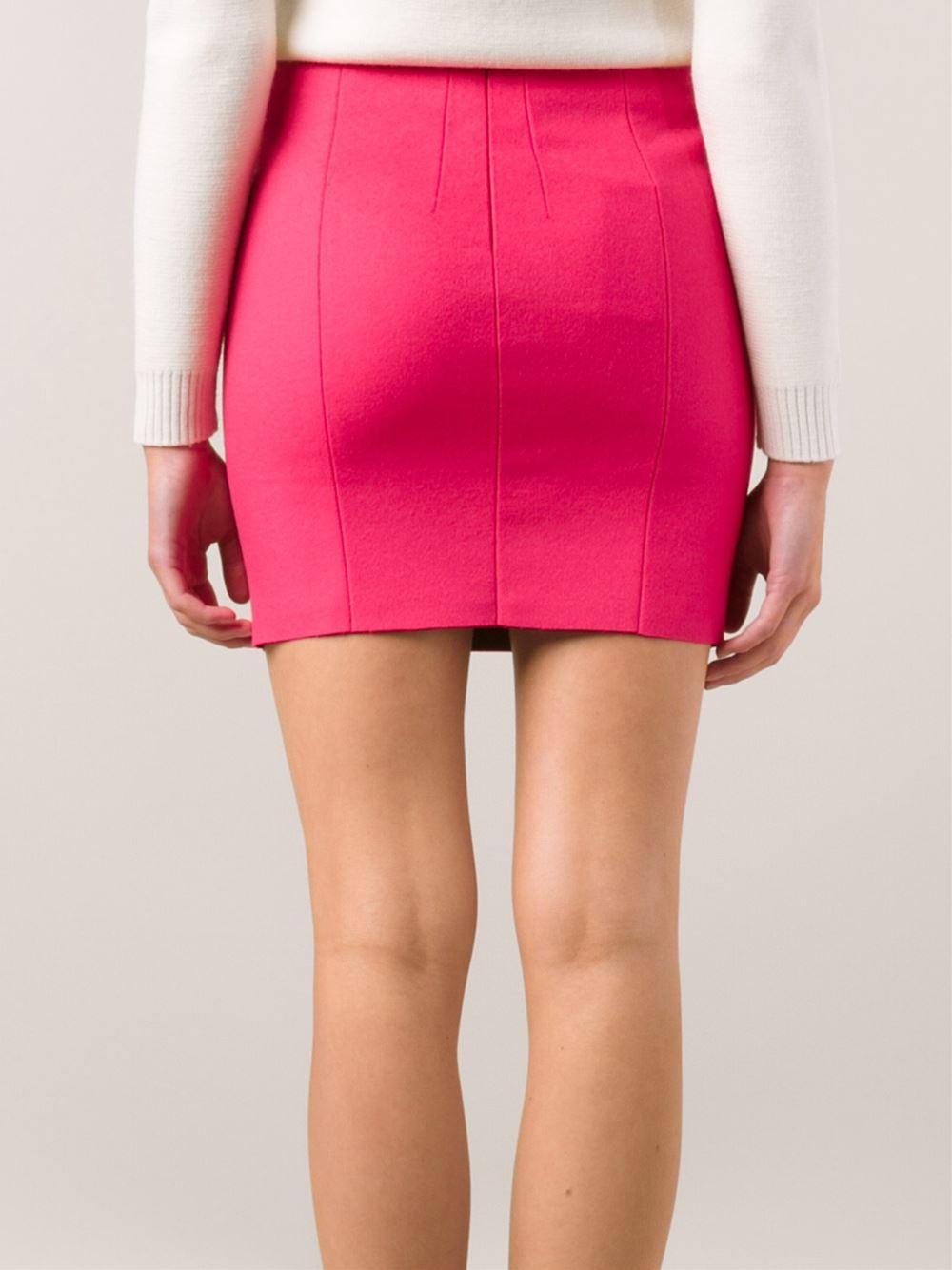 Pink mini skirt the