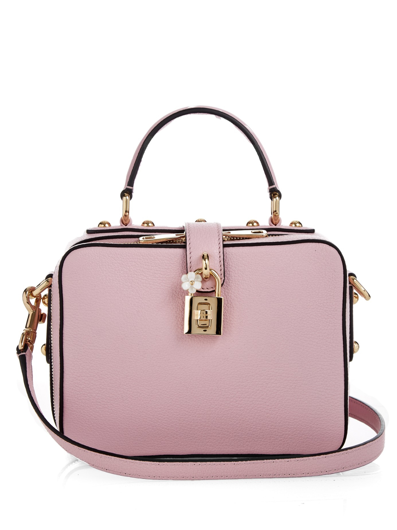 a873d12101 Lyst - Dolce   Gabbana Rosaria Leather Box Bag in Pink