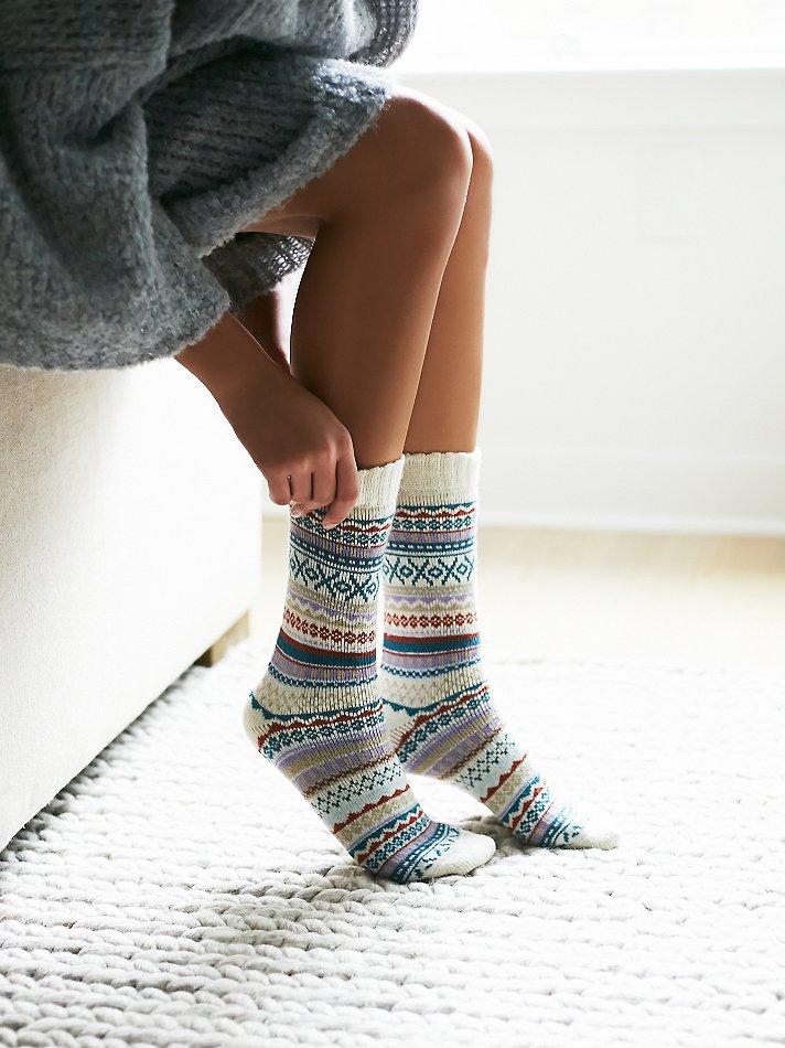 Free people Urban Knit Womens Haydon Fairisle Sock | Lyst