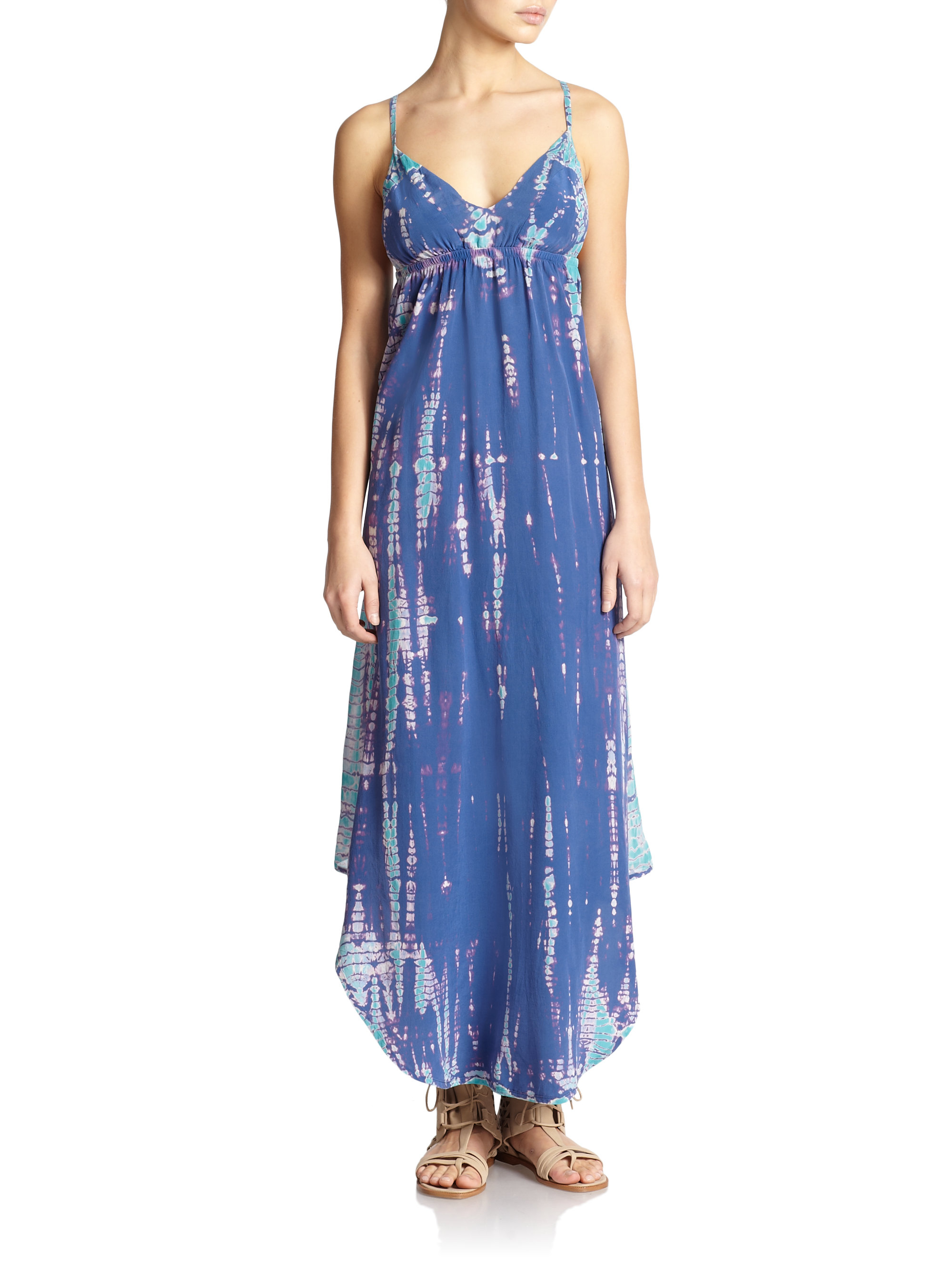 Tie dye maxi dress gypsy 05 silk