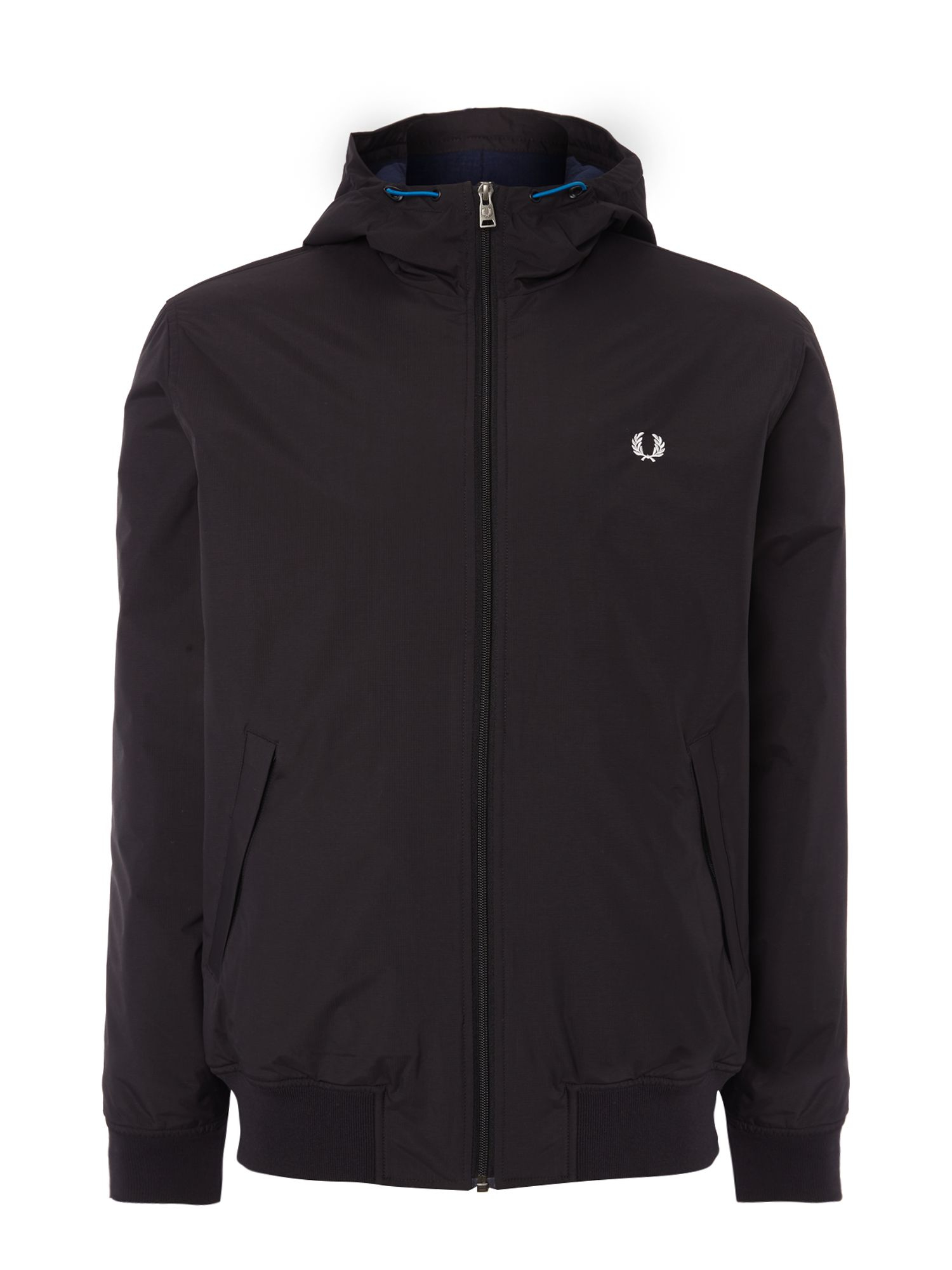 Fred Perry Brentham Hooded Quilted Jacket In Black For Men