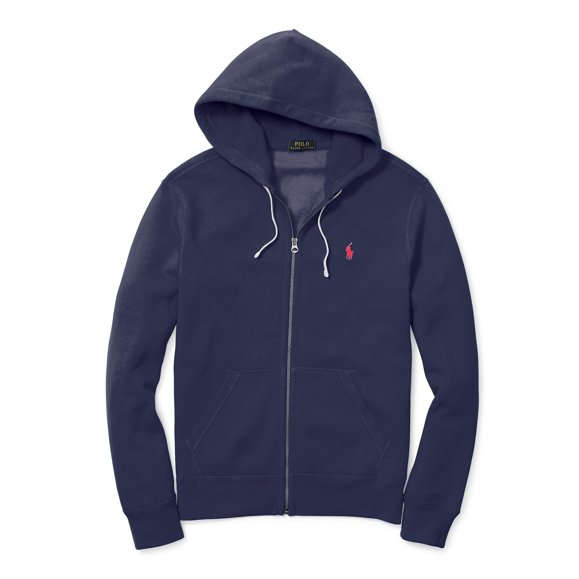 polo ralph lauren cotton blend fleece hoodie in blue for men lyst. Black Bedroom Furniture Sets. Home Design Ideas