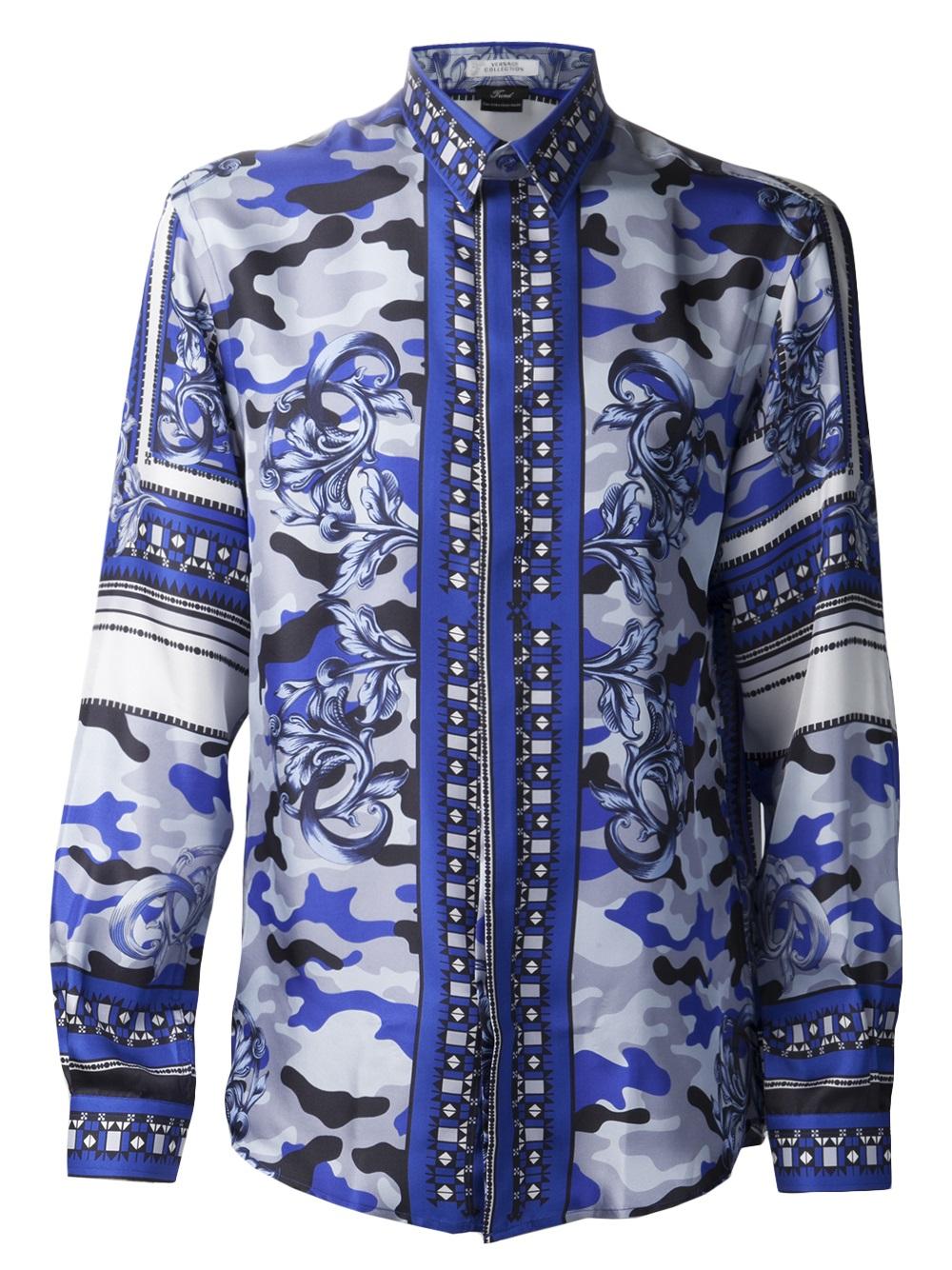 blue versace shirt dsquared2 uk. Black Bedroom Furniture Sets. Home Design Ideas