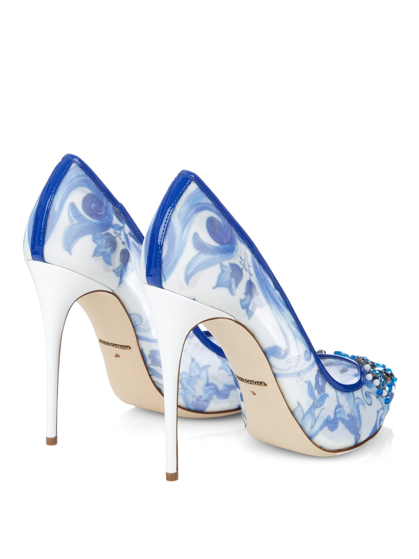 White And Blue Heels