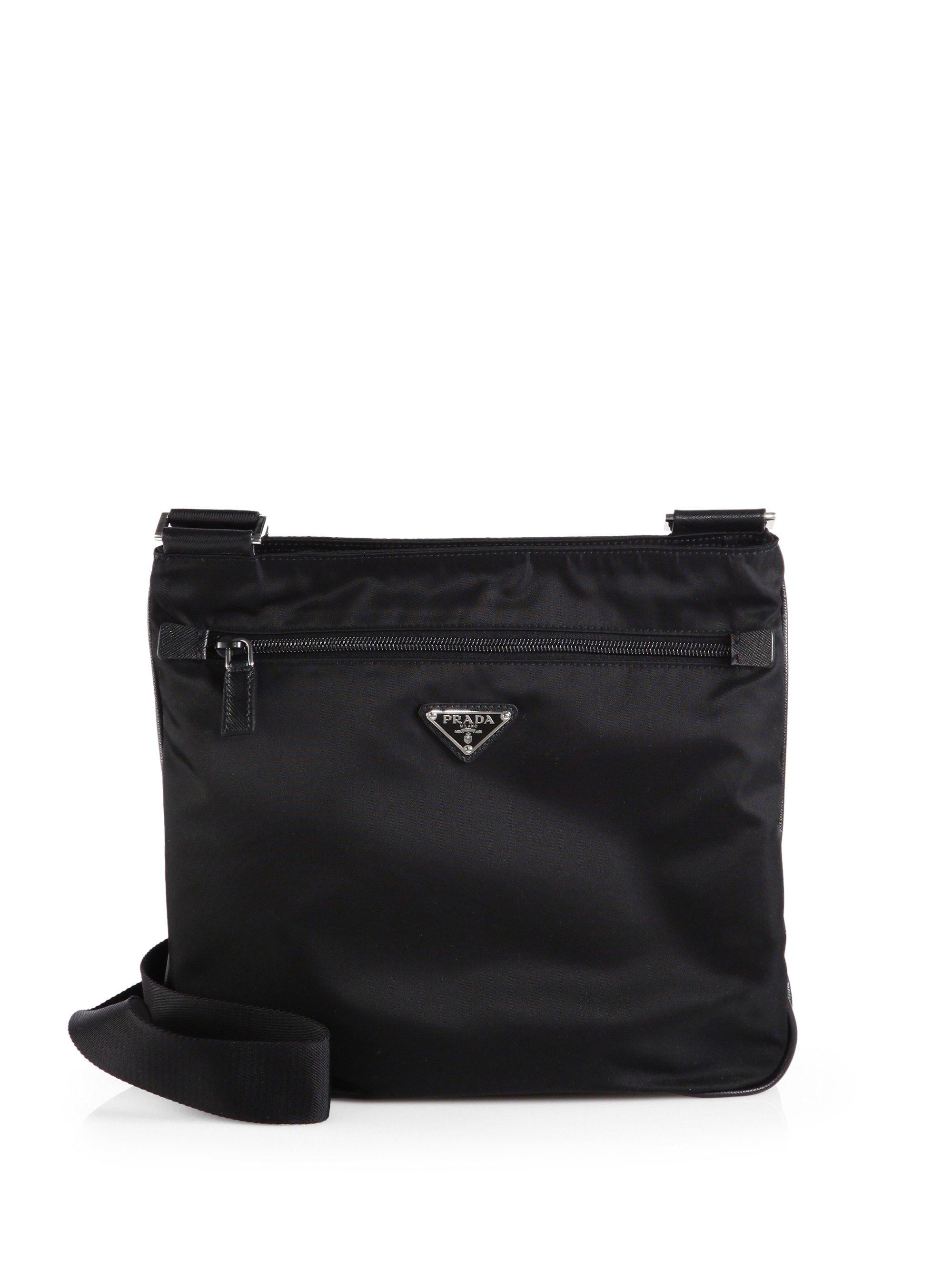 1d3d710ae36f ... italy lyst prada nylon messenger bag in black for men a802f 3d0ec