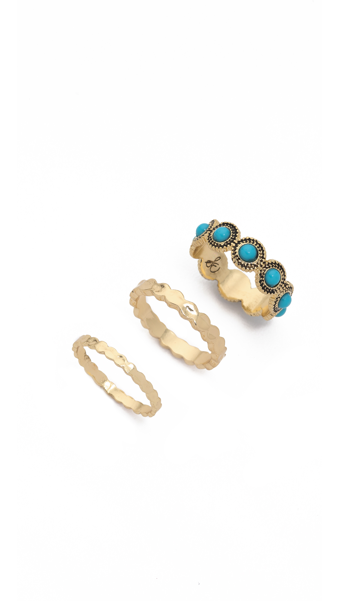 Sam Edelman Stone Stack Ring Set