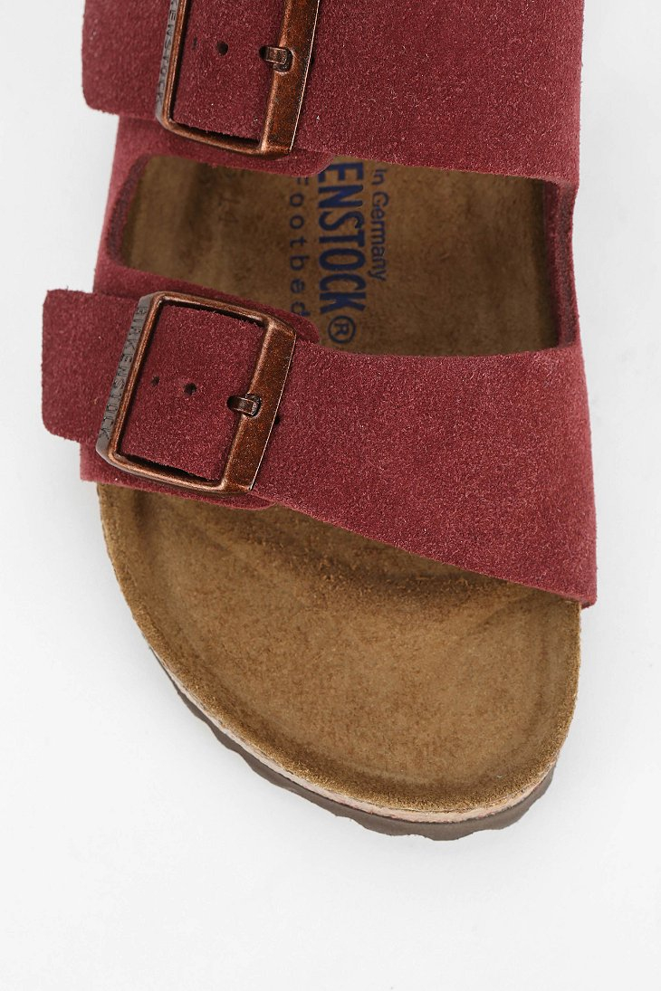 53981852ca9 Lyst - Birkenstock Arizona Soft Footbed Suede Sandal in Red
