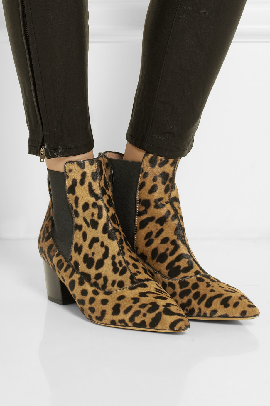 Tabitha simmons Shadow Leopard-print Calf Hair Ankle Boots | Lyst