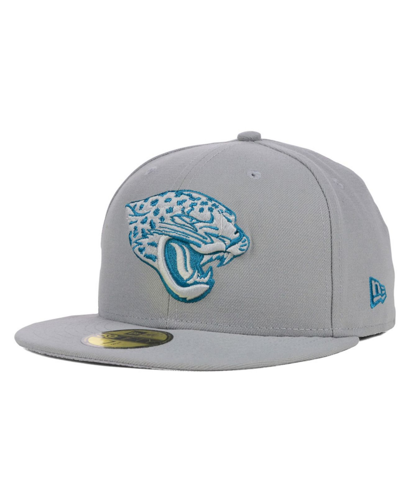 lyst ktz jacksonville jaguars nfl pop gray basic 59fifty. Black Bedroom Furniture Sets. Home Design Ideas