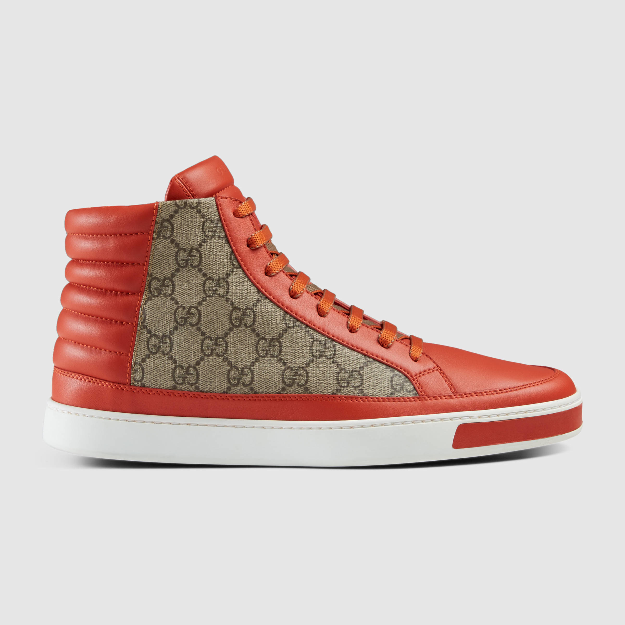 8b4405adf Gucci Gg Supreme High-top Sneaker in Red for Men - Lyst