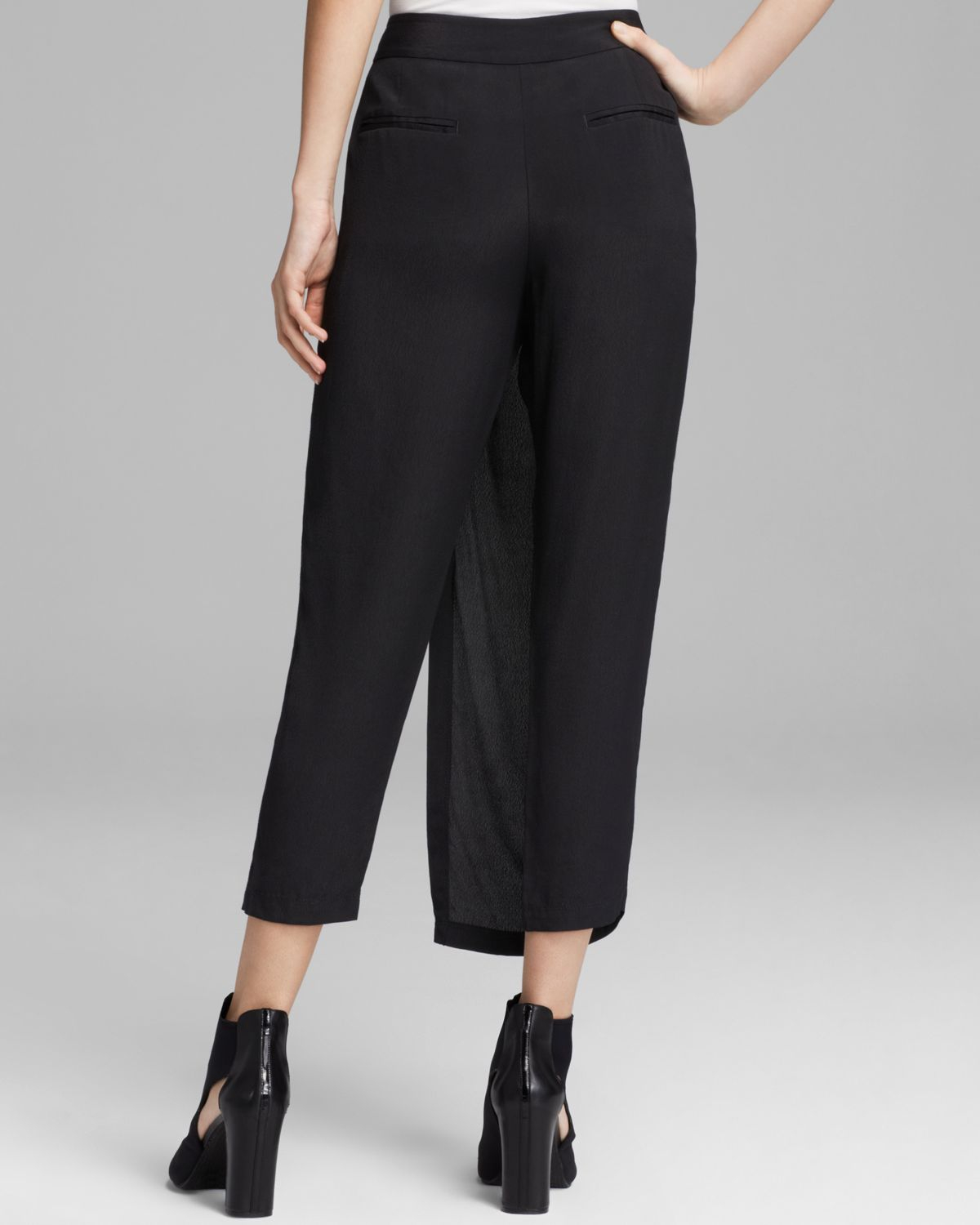 Lyst Dkny Pure Front Skirt Overlay Pants In Black