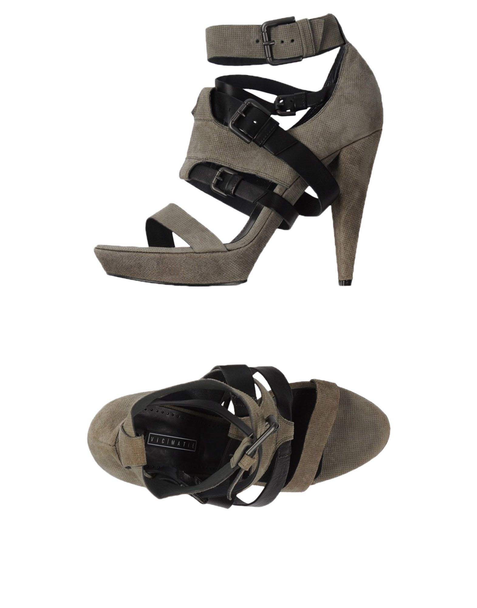 vic mati sandals in gray lyst. Black Bedroom Furniture Sets. Home Design Ideas
