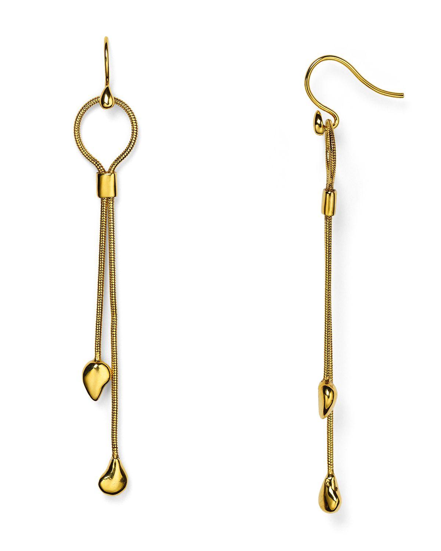 Lyst - Diane von furstenberg Dew Drop Linear Earrings in Metallic