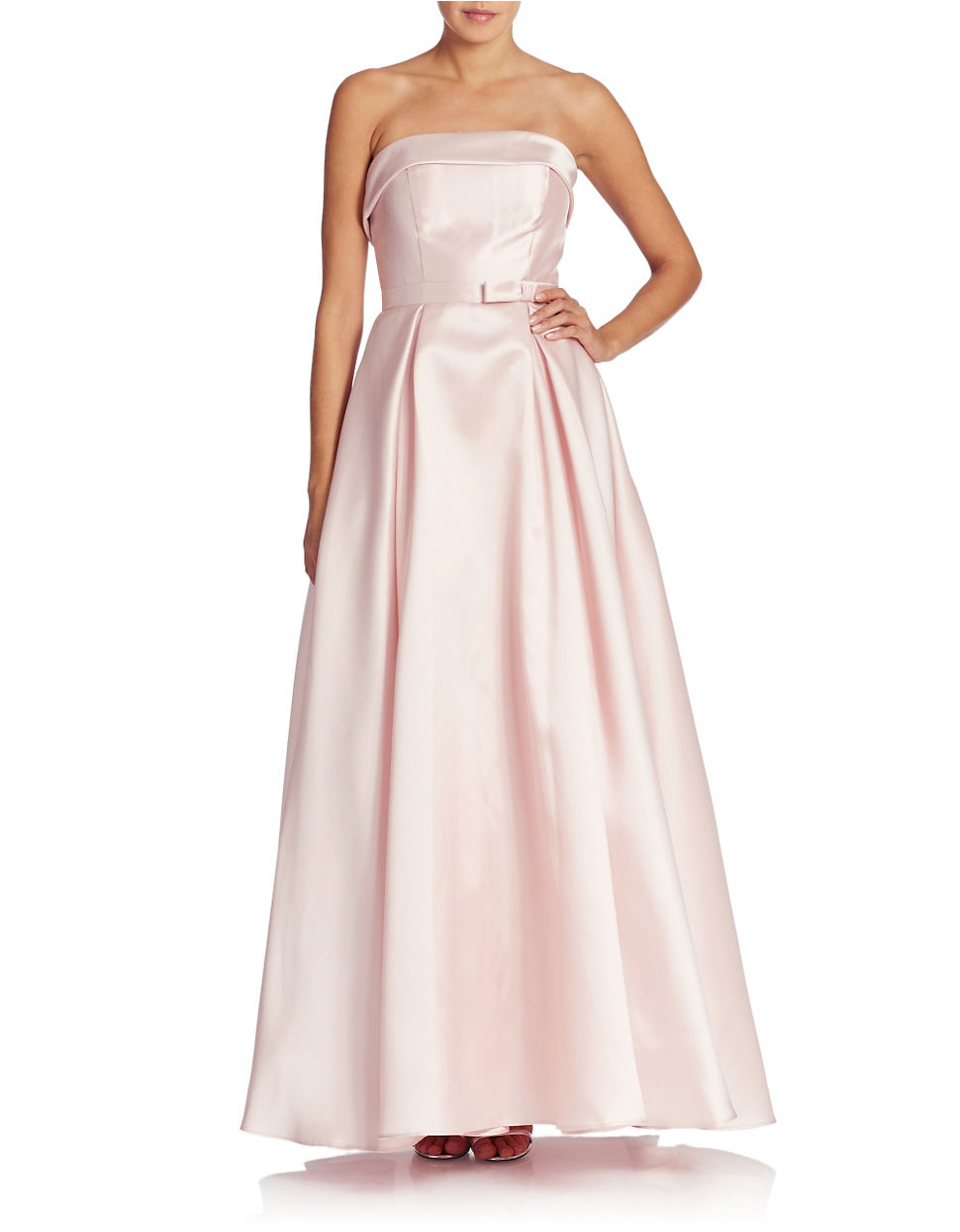 Lyst - Xscape Strapless Evening Gown in Pink