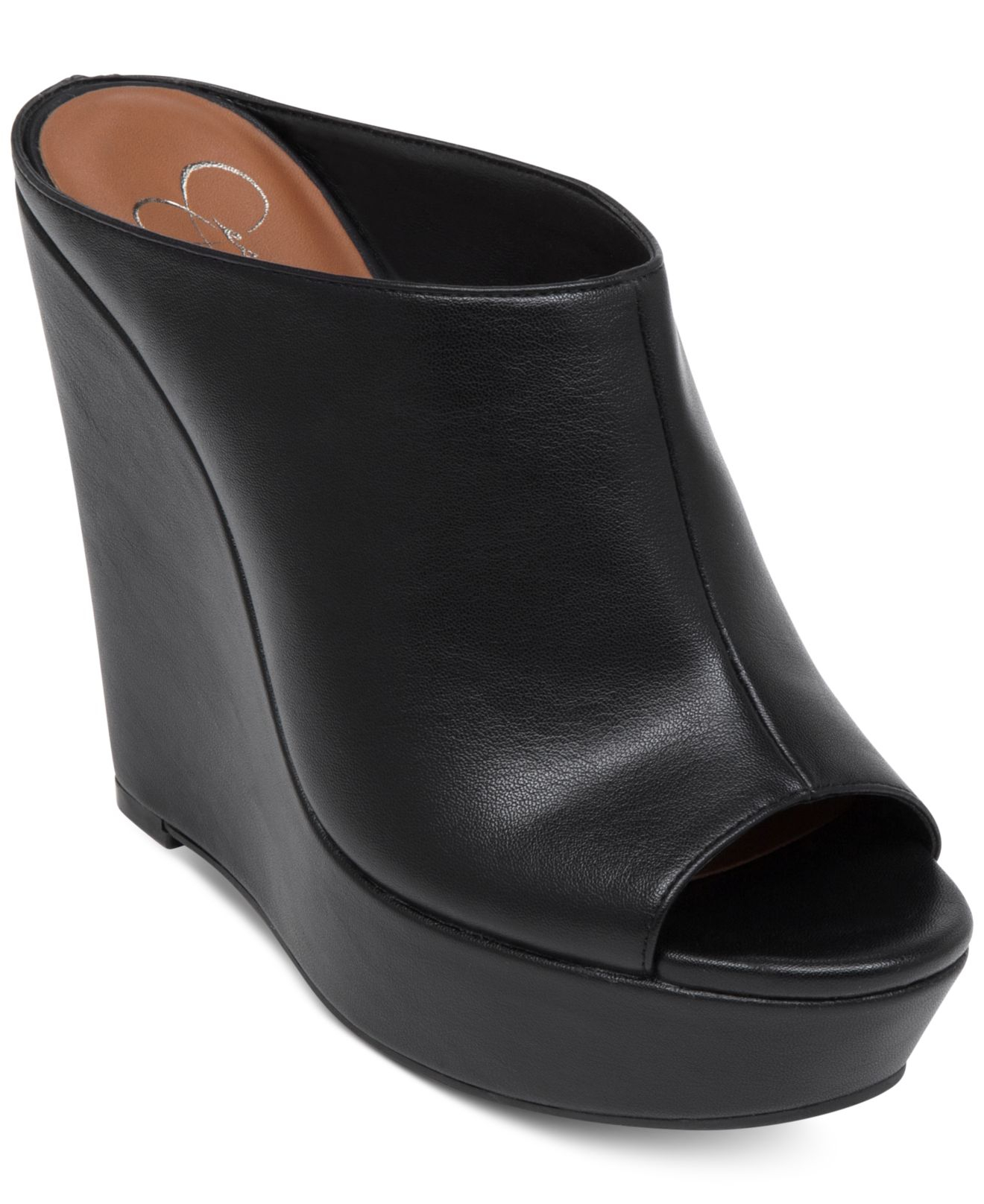 Lyst Jessica Simpson Lovell Platform Wedge Sandals In Black