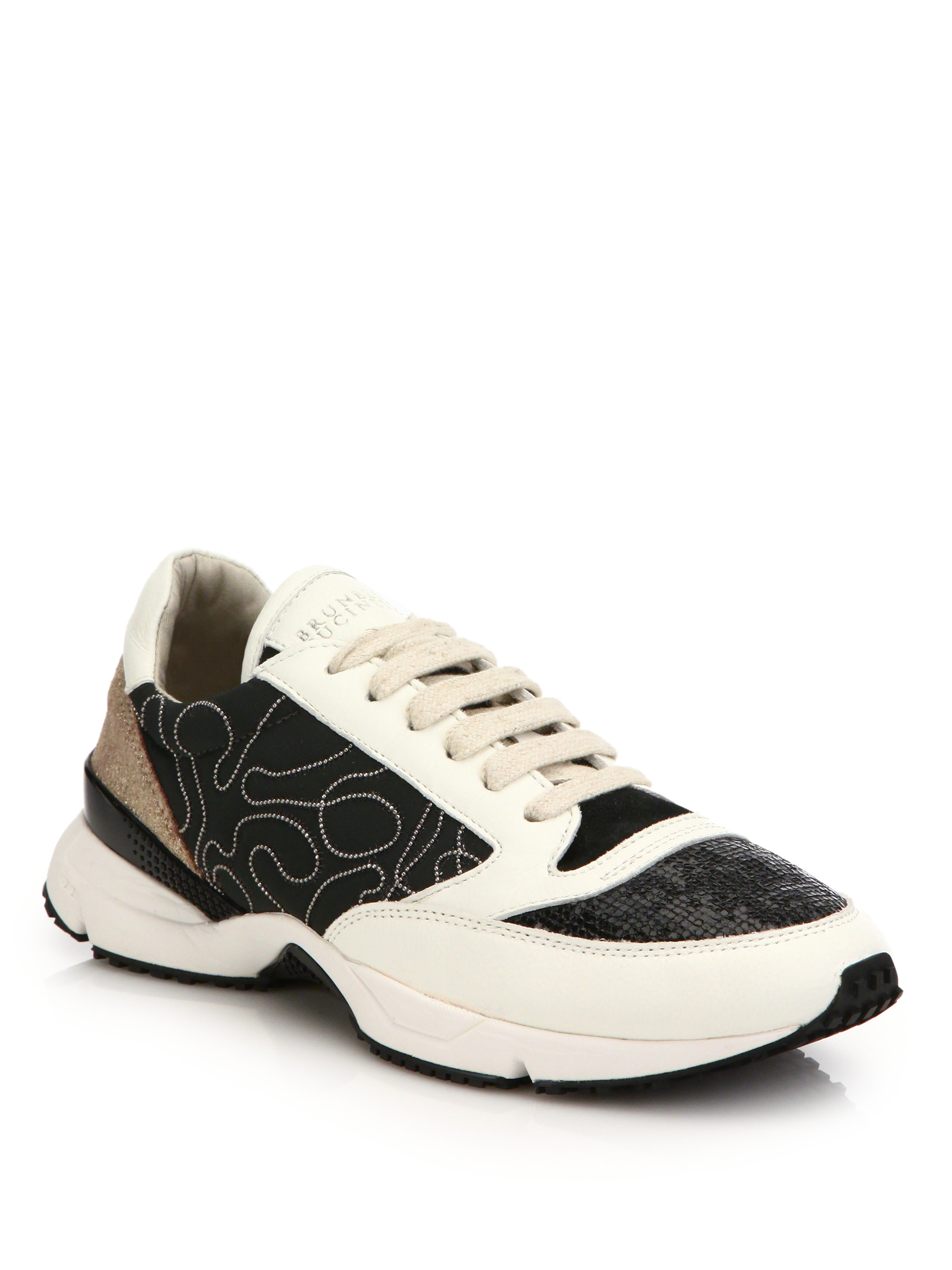 Brunello Cucinelli Glitter Low-Top Sneakers cheap comfortable OX0dzMkh