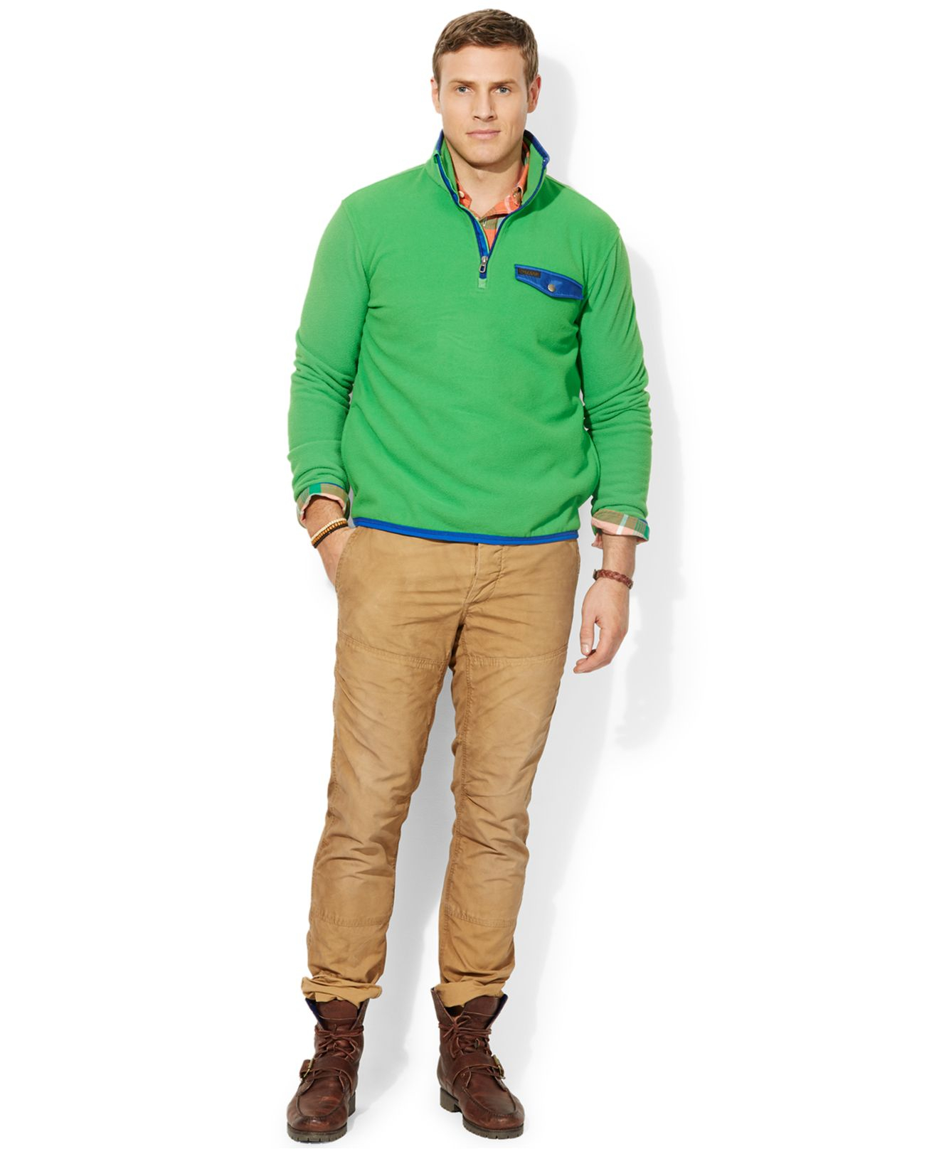 Polo Ralph Lauren Big And Tall Fleece Mockneck Pullover In