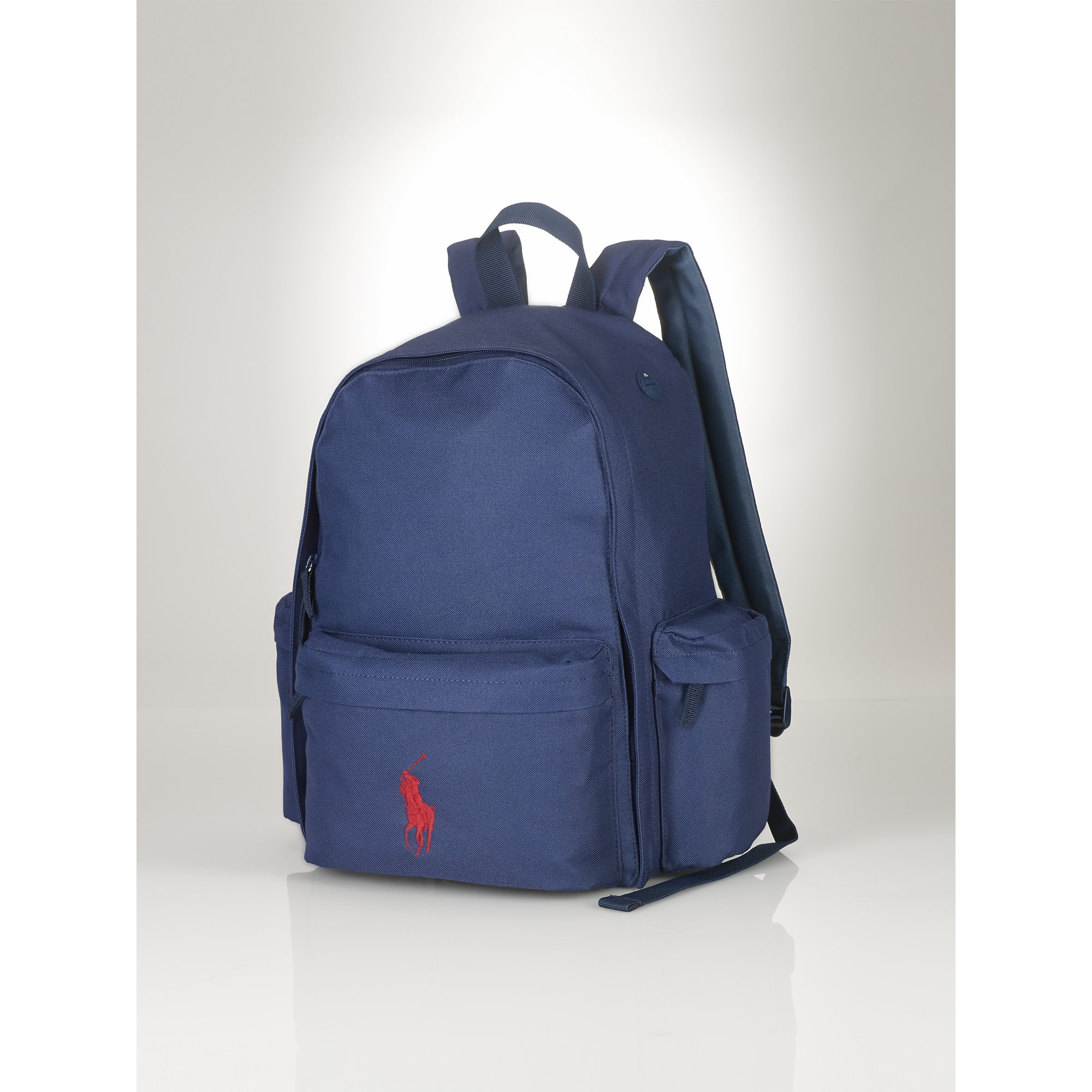 a8f5fde63174 ... lyst ralph lauren large big pony backpack in blue ...