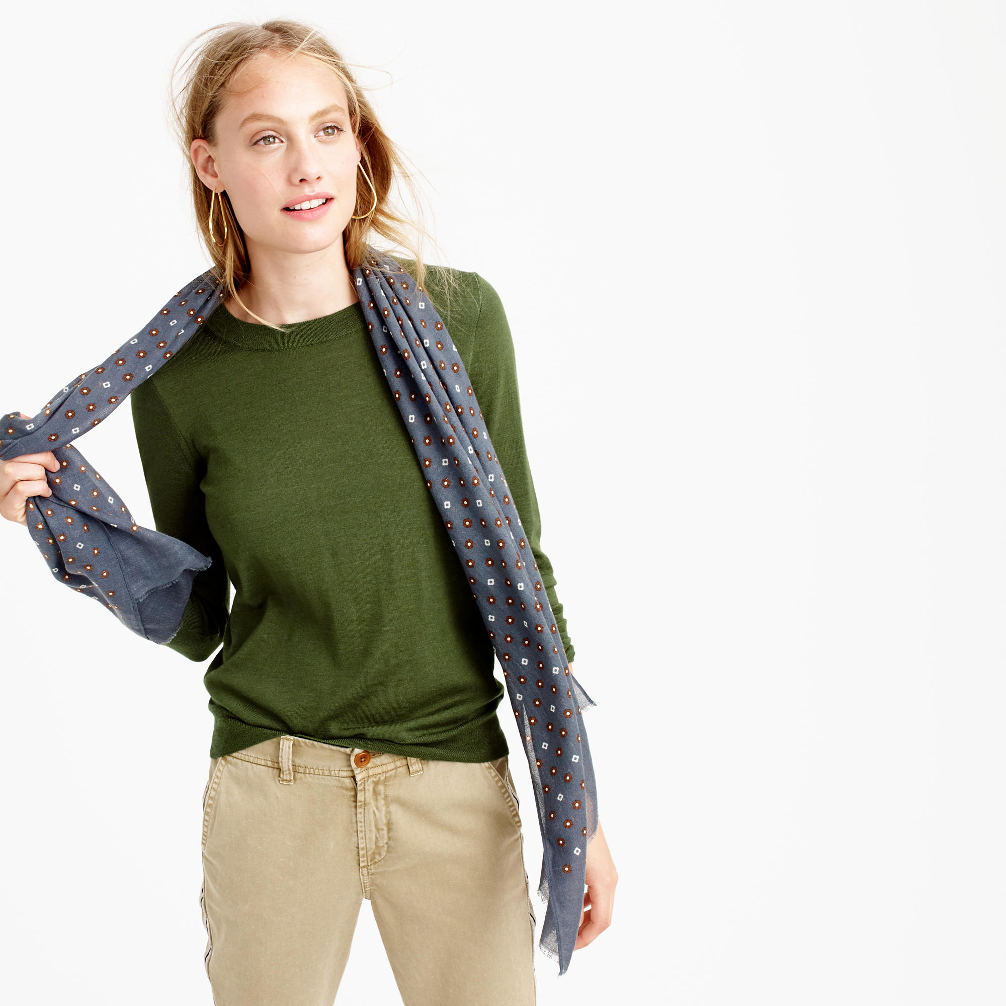 Tippi sweater in green fresh parsley lyst for Jcrew com